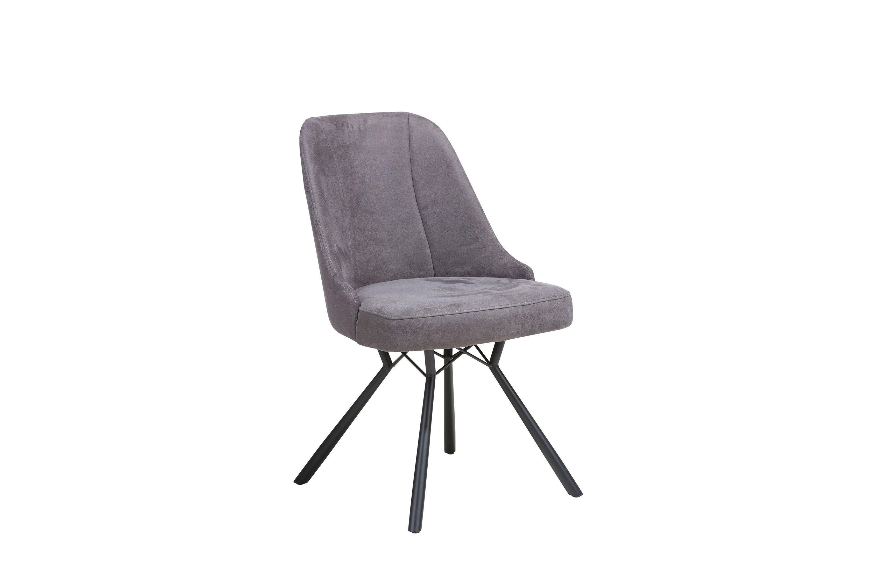 Eefje Antracite Stuhl Von Habufa Schwarz Metall TKJ5c3ulF1