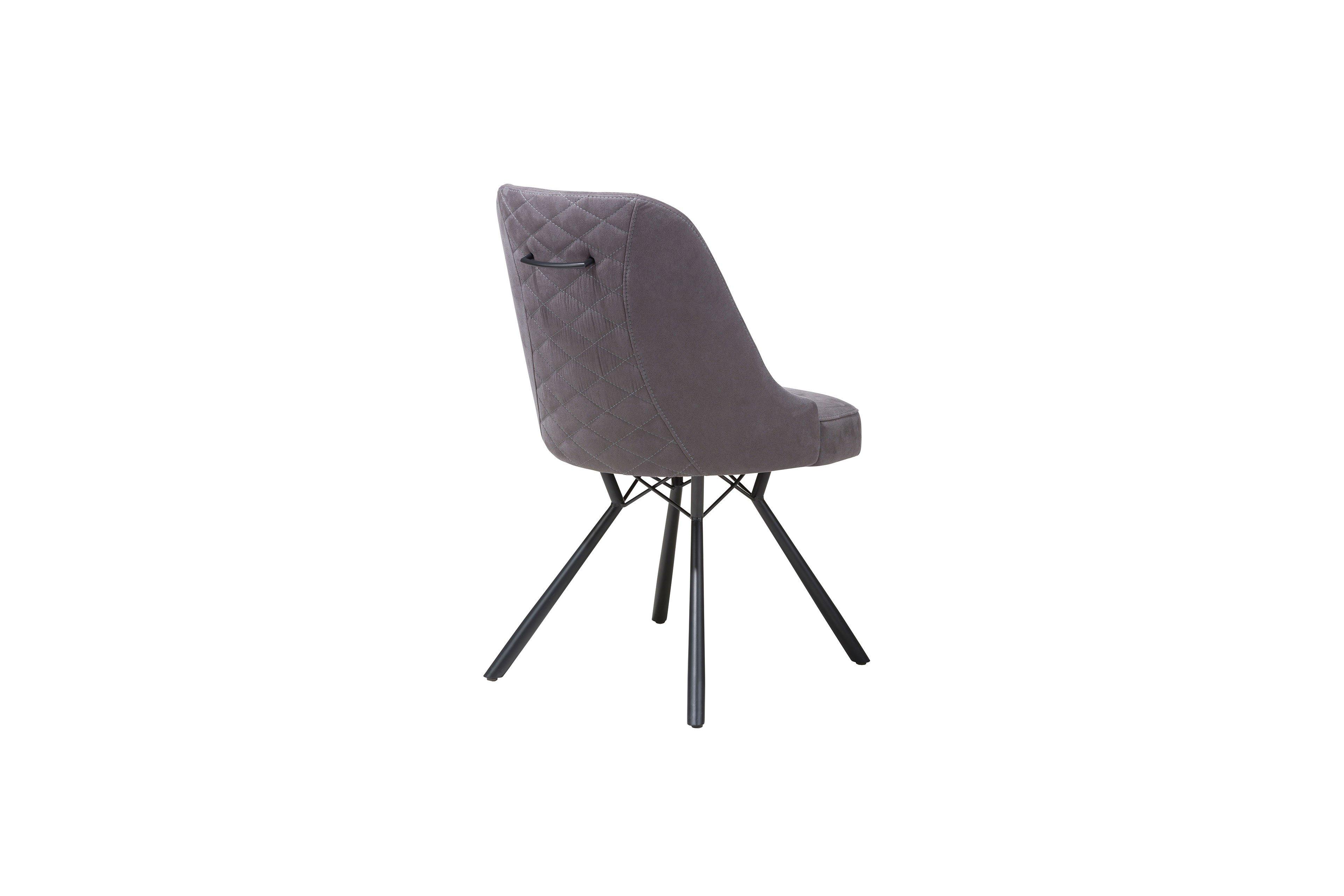 Eefje Von Habufa Stuhl Antracite Metall Schwarz