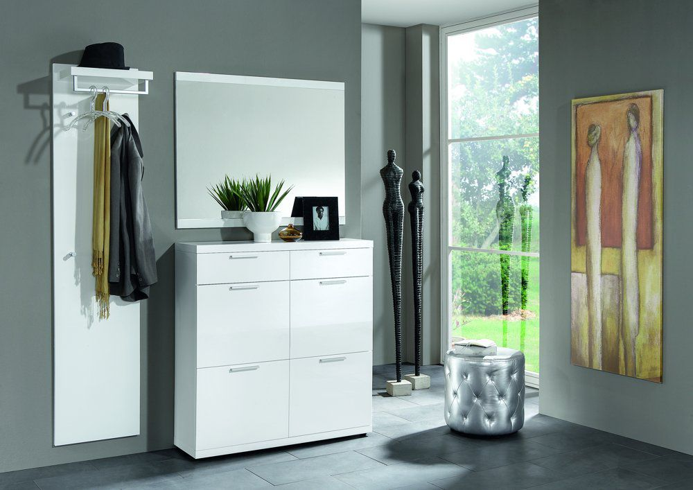 garderobe lagos hochglanz lack wei von voss m bel letz ihr online shop. Black Bedroom Furniture Sets. Home Design Ideas