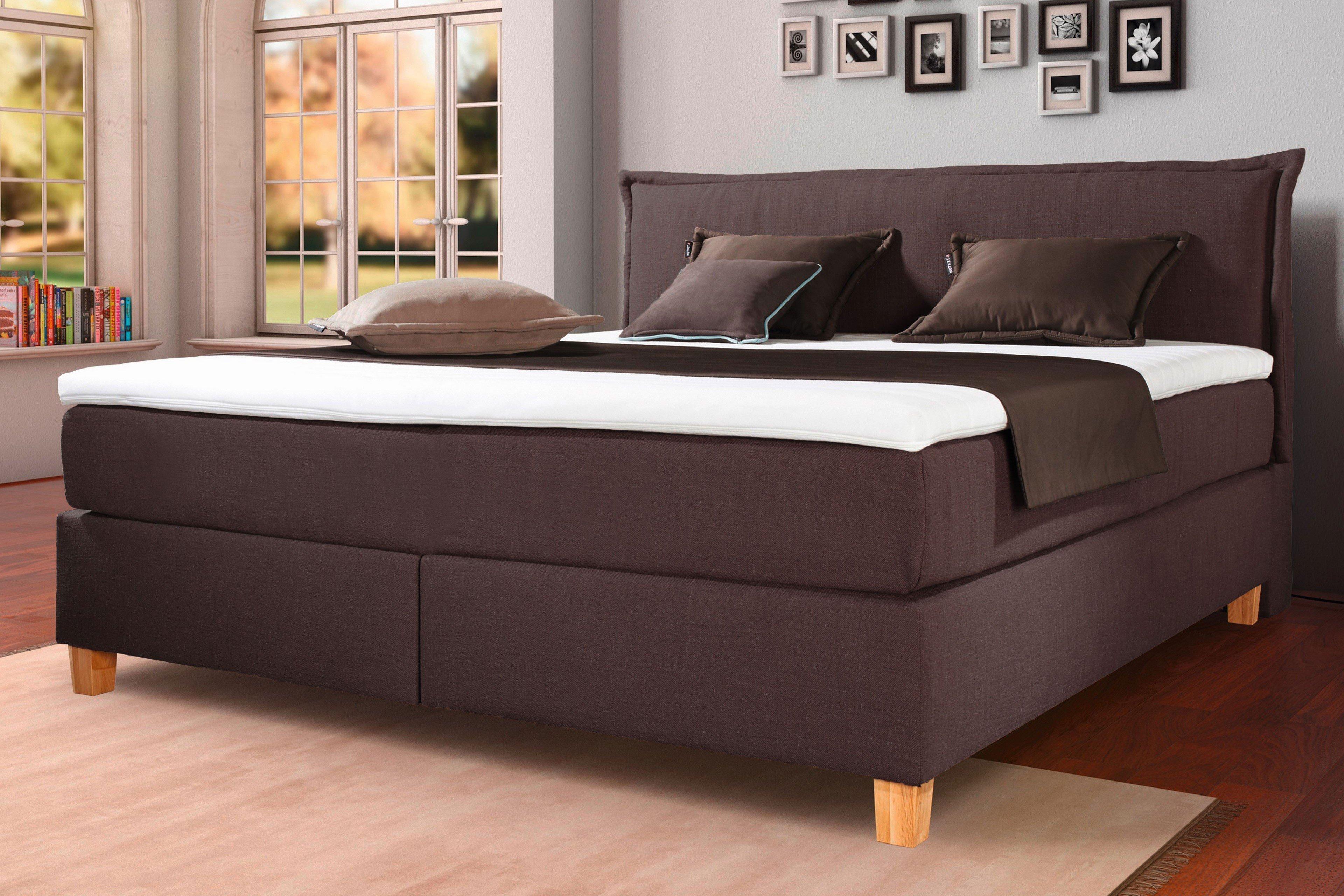 boxspringbett citie von matraflex in braun m bel letz ihr online shop. Black Bedroom Furniture Sets. Home Design Ideas