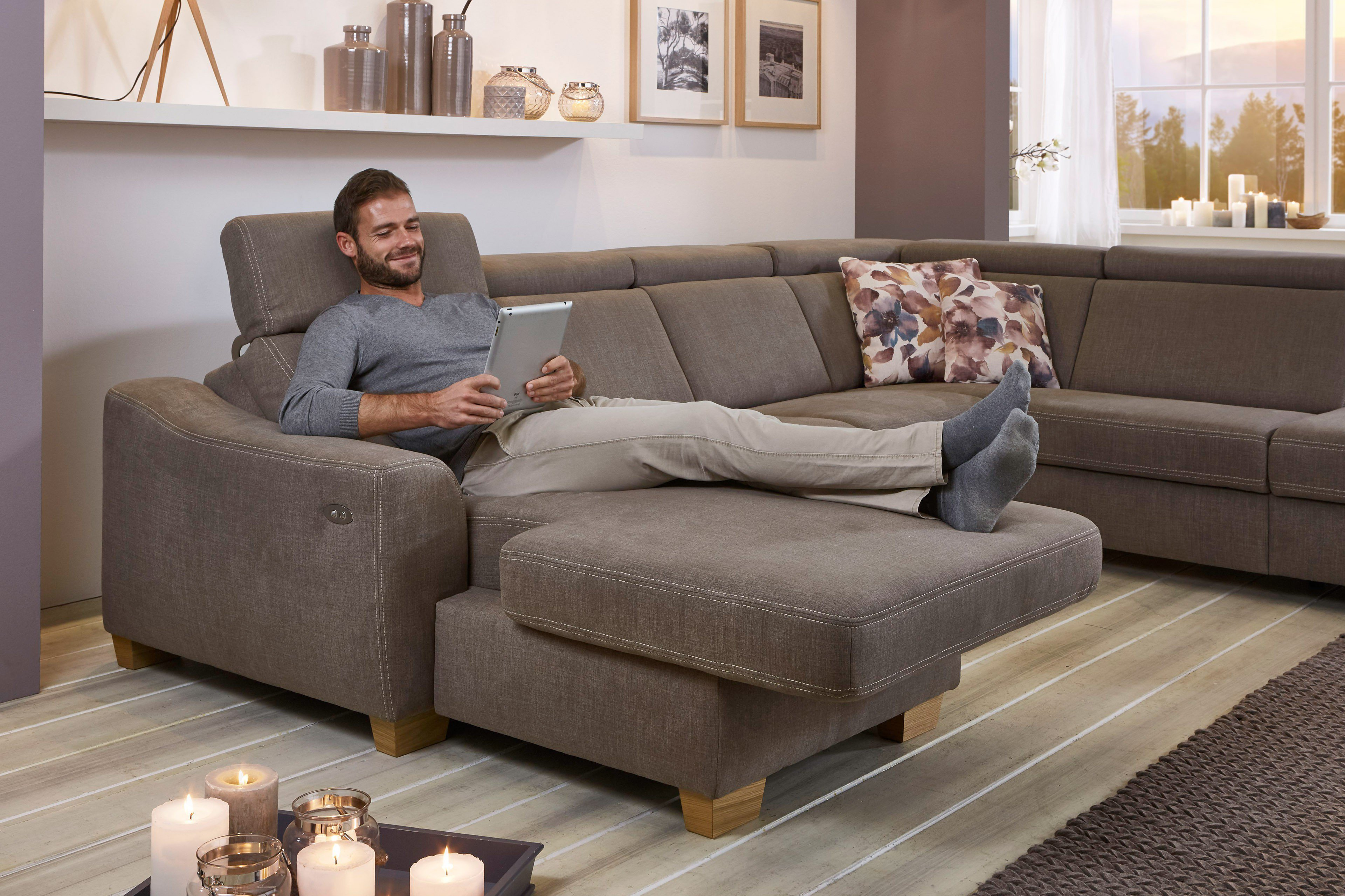 Zehdenick Arcadia Polstergarnitur Nougat Mobel Letz Ihr Online Shop