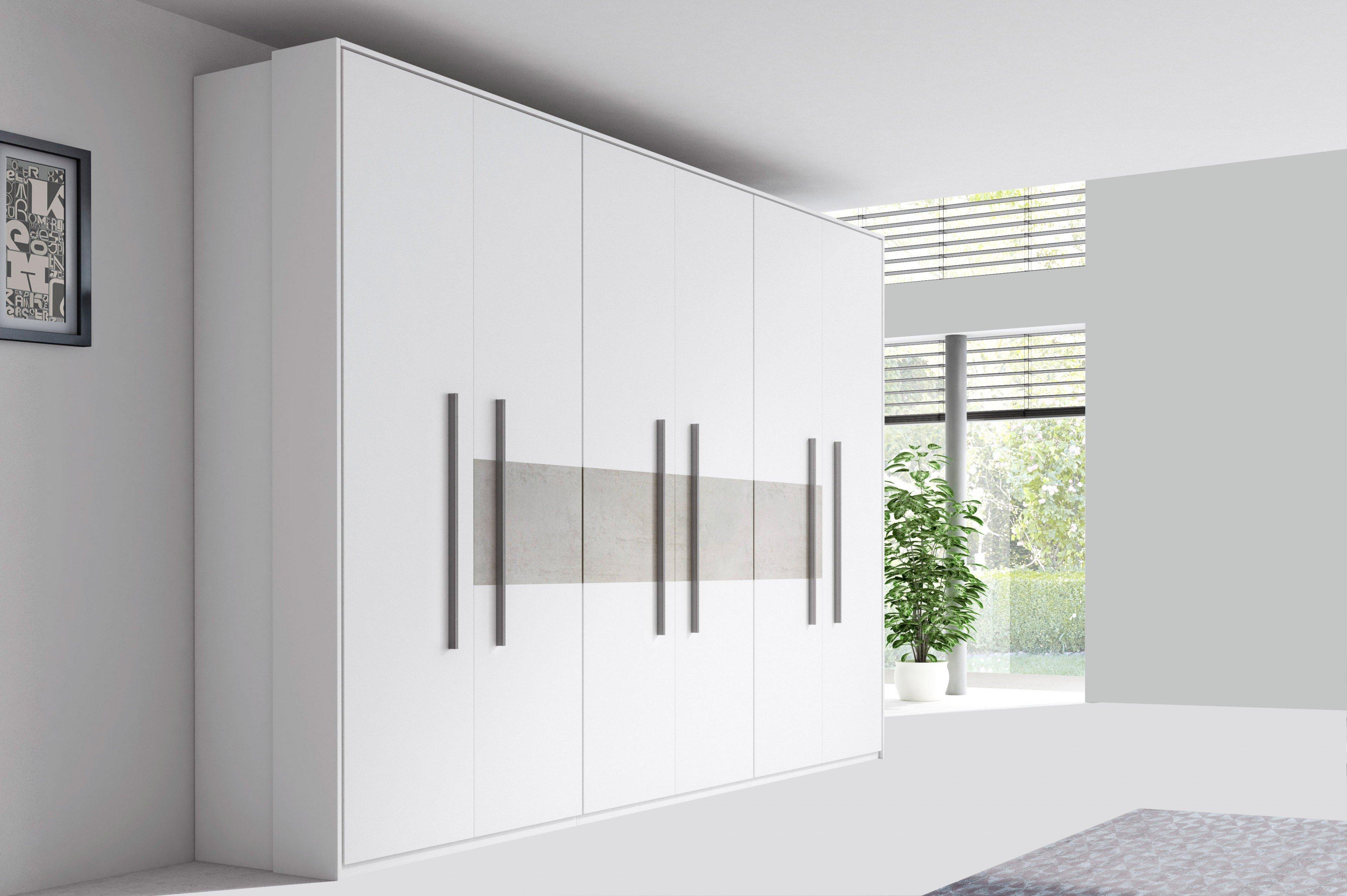 Addon Von Röhr Bush Schranksystem 6 Türig Weiß Beton Optik