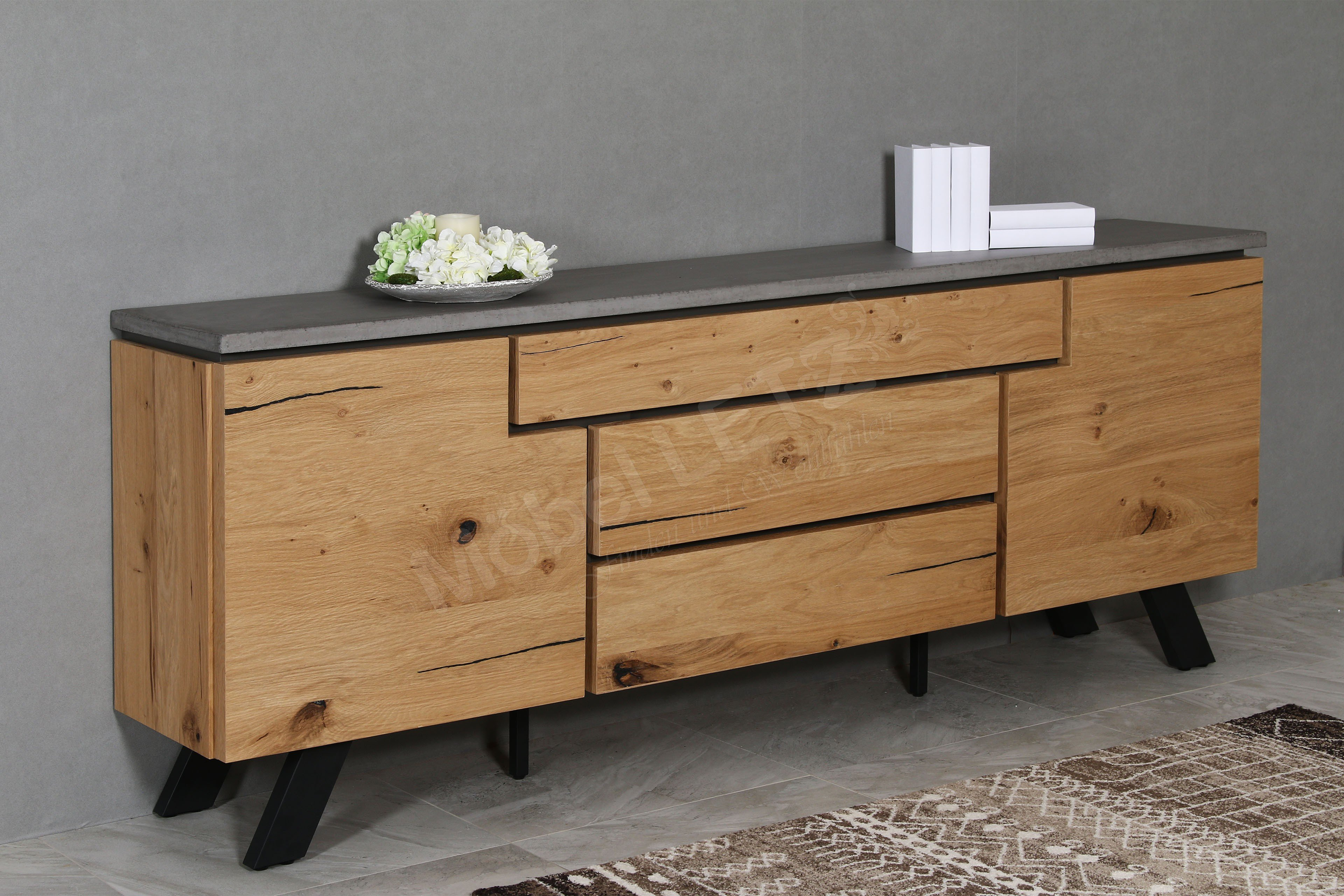 casada sideboard calvi eiche beton m bel letz ihr online shop. Black Bedroom Furniture Sets. Home Design Ideas
