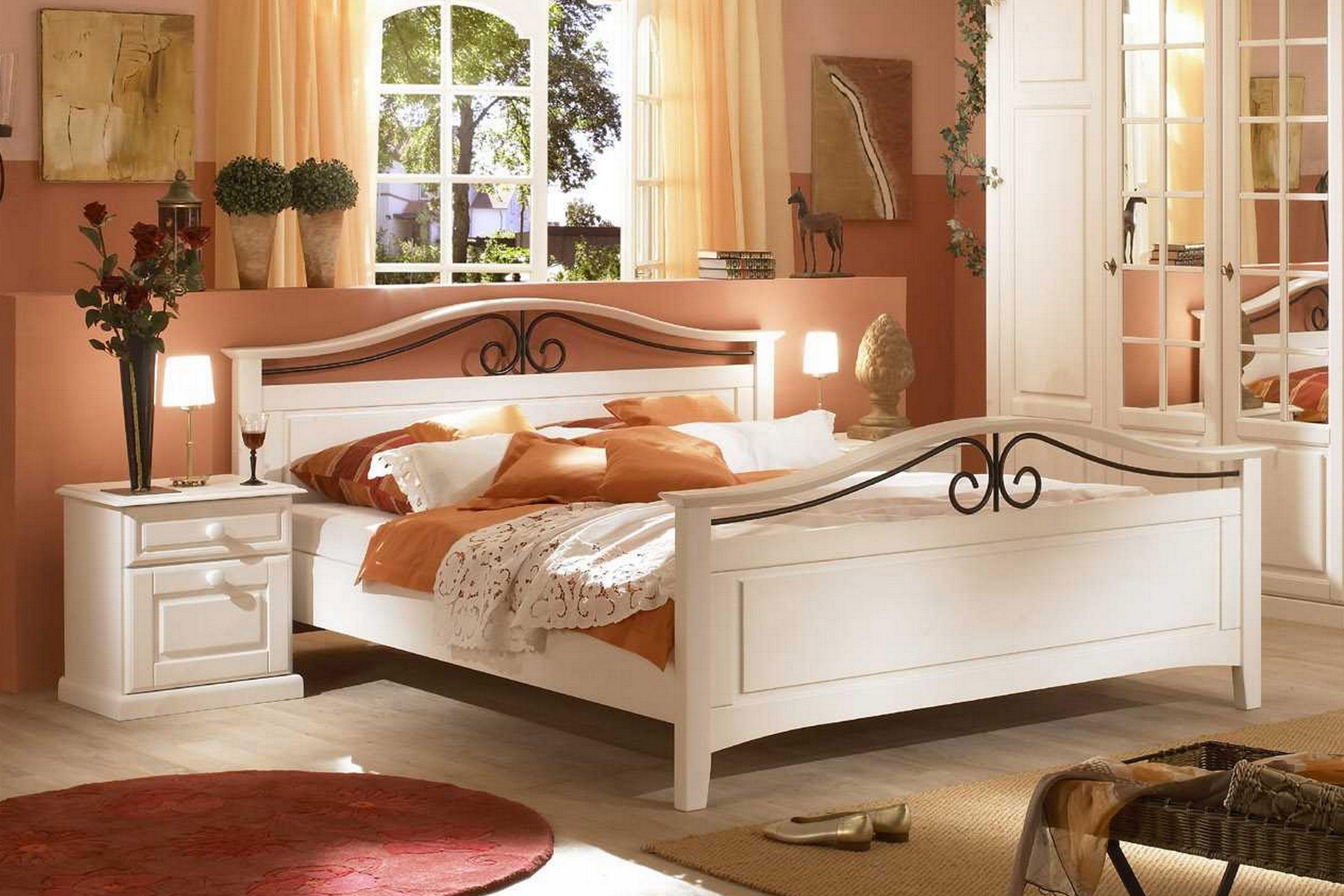 Telmex San Remo Komplett Schlafzimmer Pinie weiß
