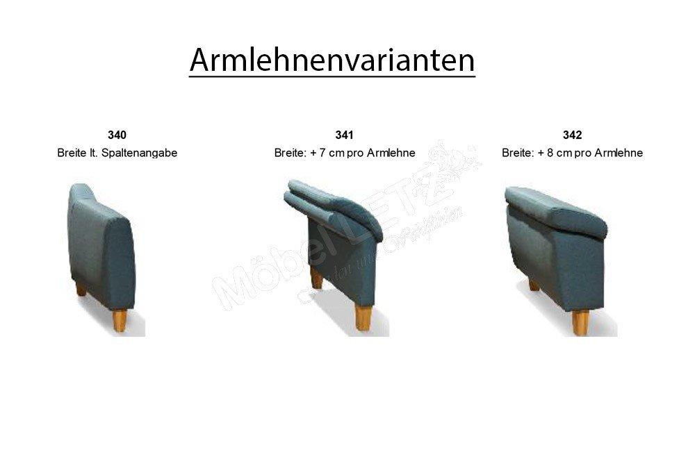 EMP ComfySofa 342 Polstergarnitur braun   Möbel Letz - Ihr Online-Shop