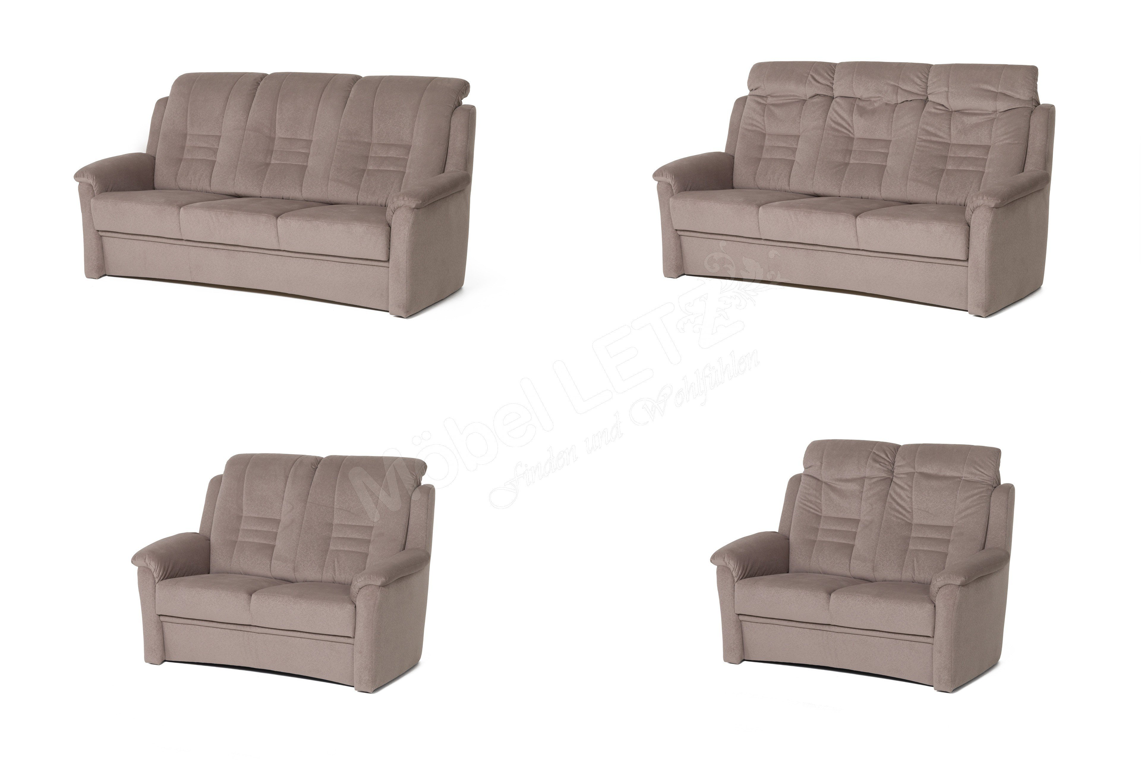 Dietsch Berlin Sofa-Garnitur in Nougat | Möbel Letz - Ihr Online-Shop