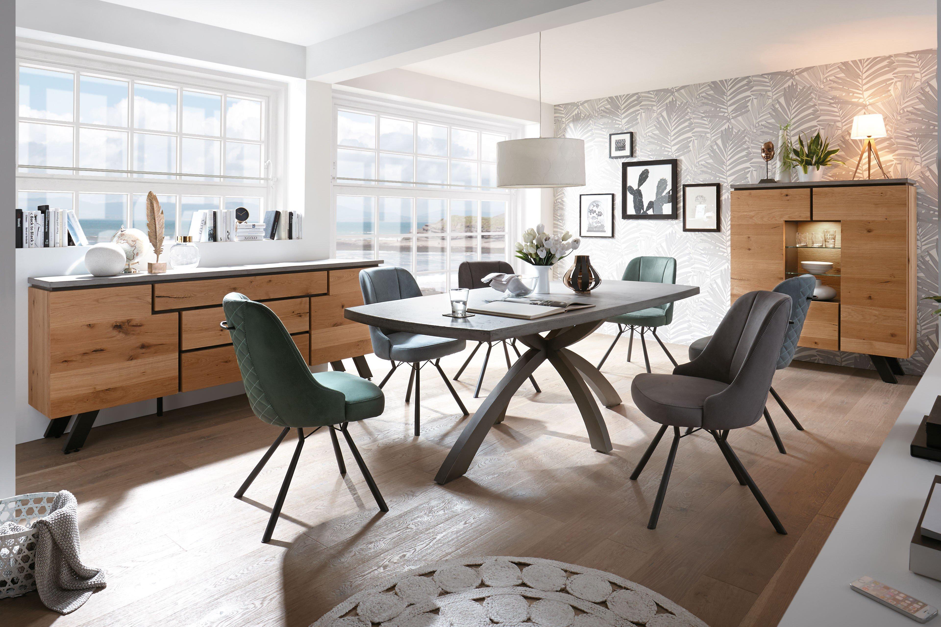 casada esszimmer calvi beton metall schwarz kibo antracite m bel letz ihr online shop. Black Bedroom Furniture Sets. Home Design Ideas
