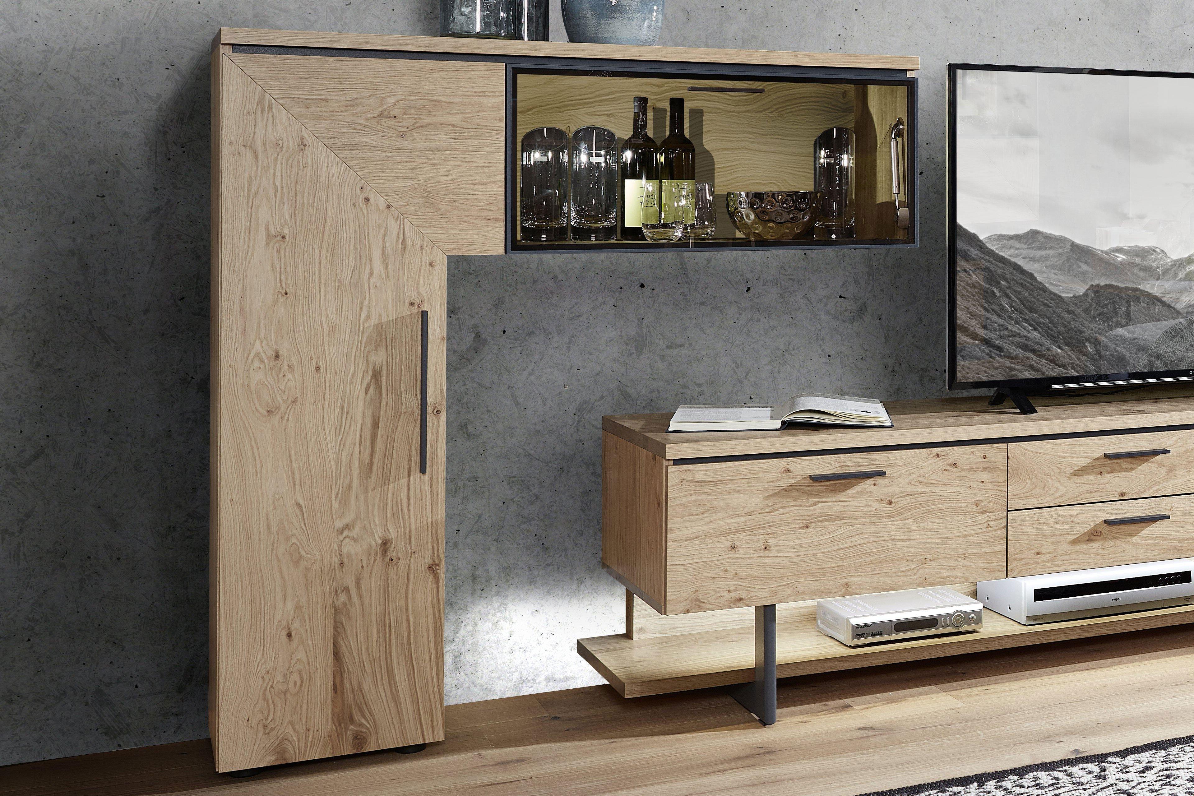 schr der m bel wohnwand kitzalm premium k902 eiche anthrazit m bel letz ihr online shop. Black Bedroom Furniture Sets. Home Design Ideas
