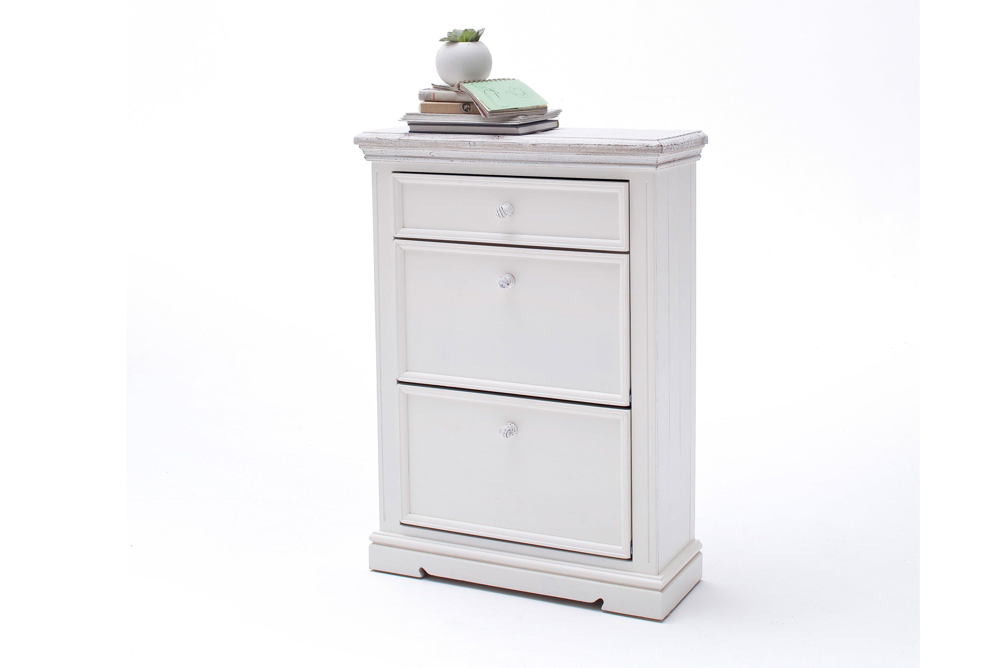 Schuhschrank Osita Kiefer weiß/ teil-massiv - MCA furniture   Möbel ...