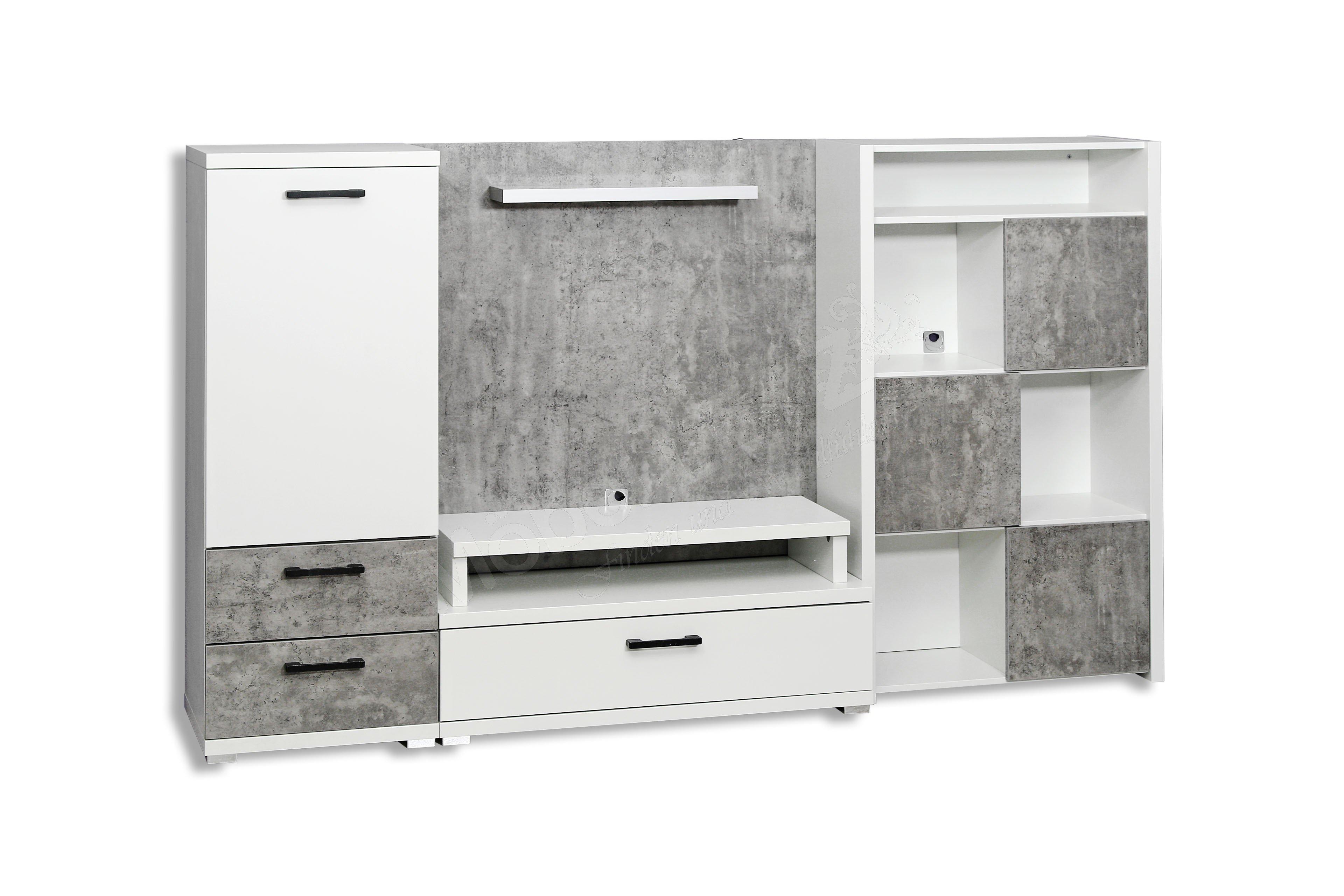 Rauch Wohnwand Nice4fantasy weiß - grau | Möbel Letz - Ihr Online-Shop
