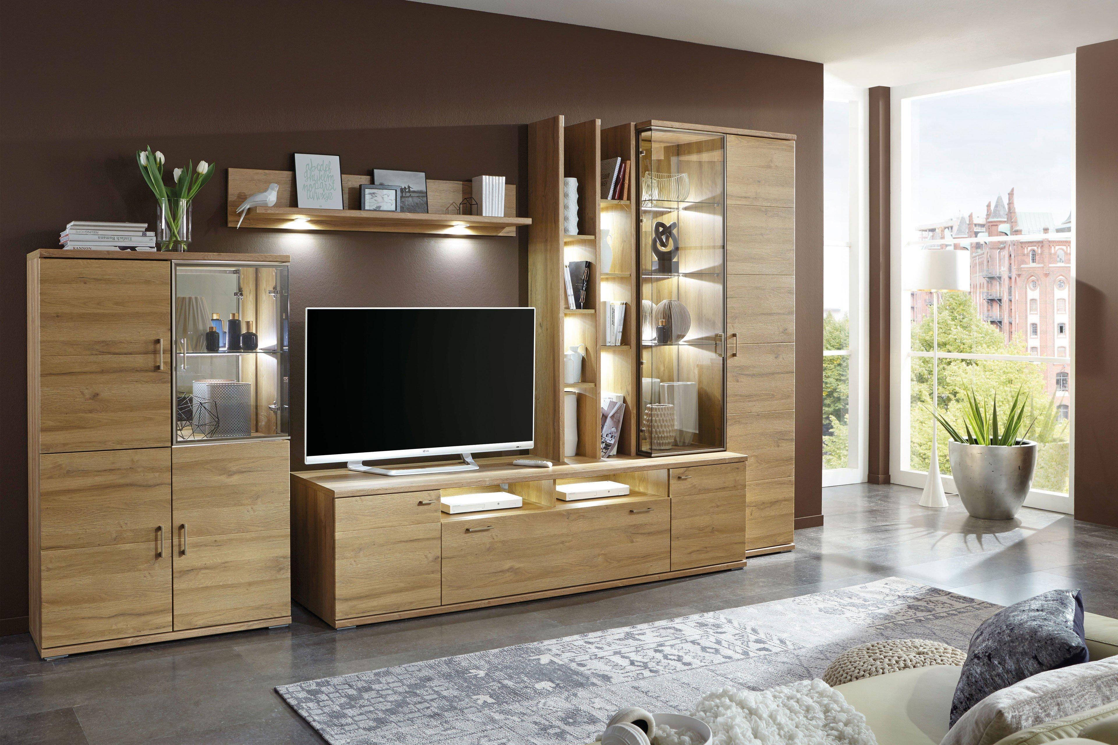 ideal m bel wohnwand lara 101 mit beleuchtung m bel letz ihr online shop. Black Bedroom Furniture Sets. Home Design Ideas