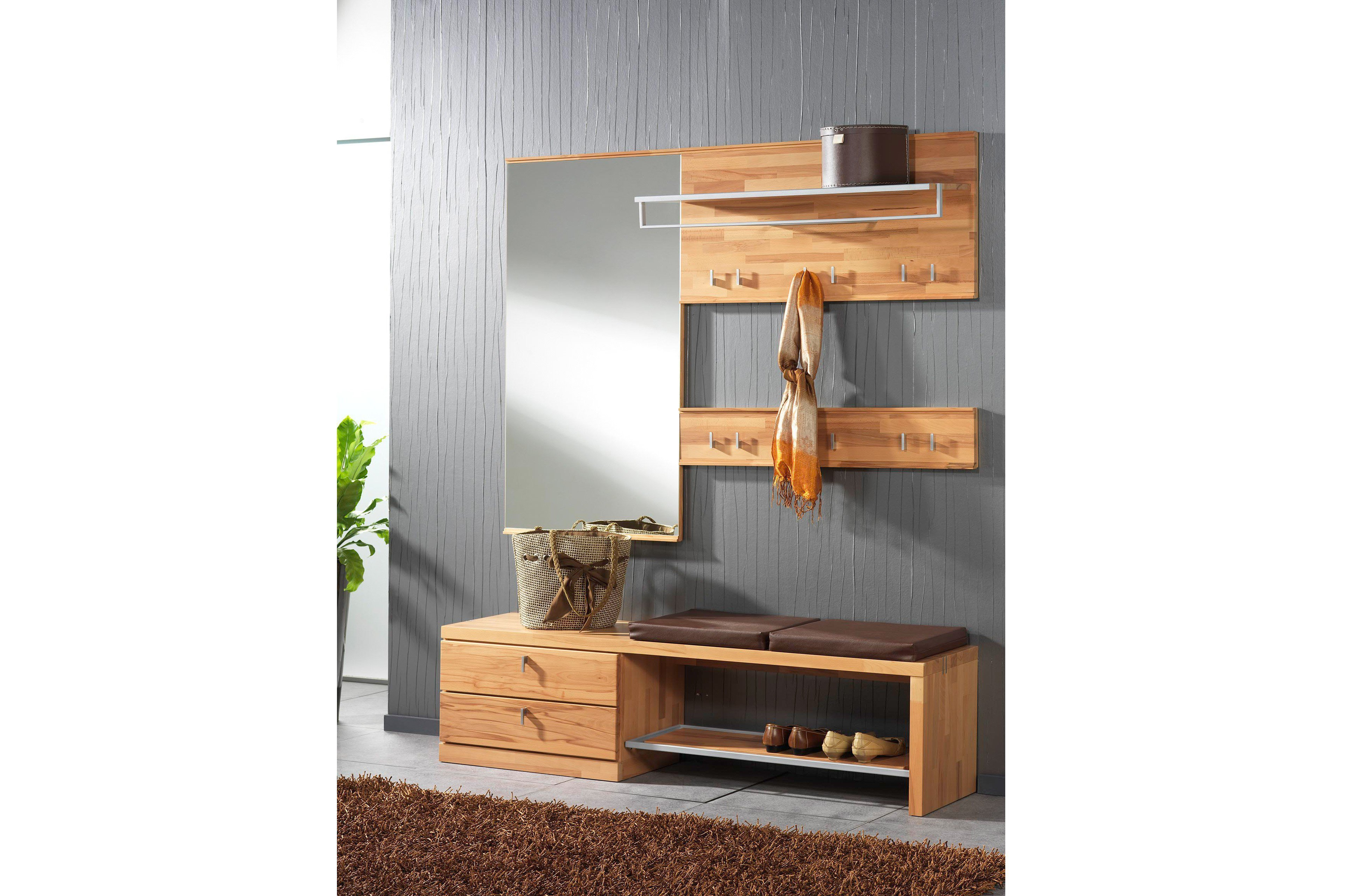 bienenm hle garderobe vado set 01 kernbuche m bel letz. Black Bedroom Furniture Sets. Home Design Ideas