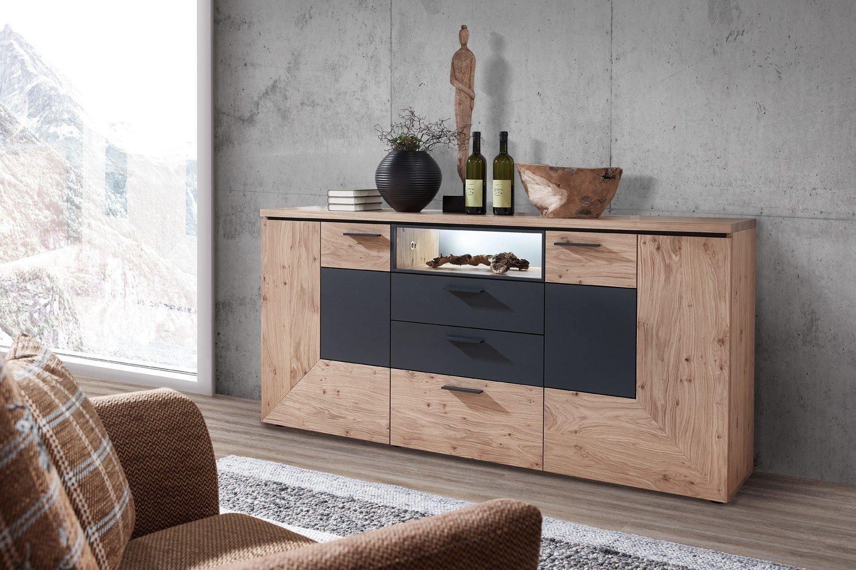 sideboard anthrazit gallery of billig sideboard anthrazit. Black Bedroom Furniture Sets. Home Design Ideas