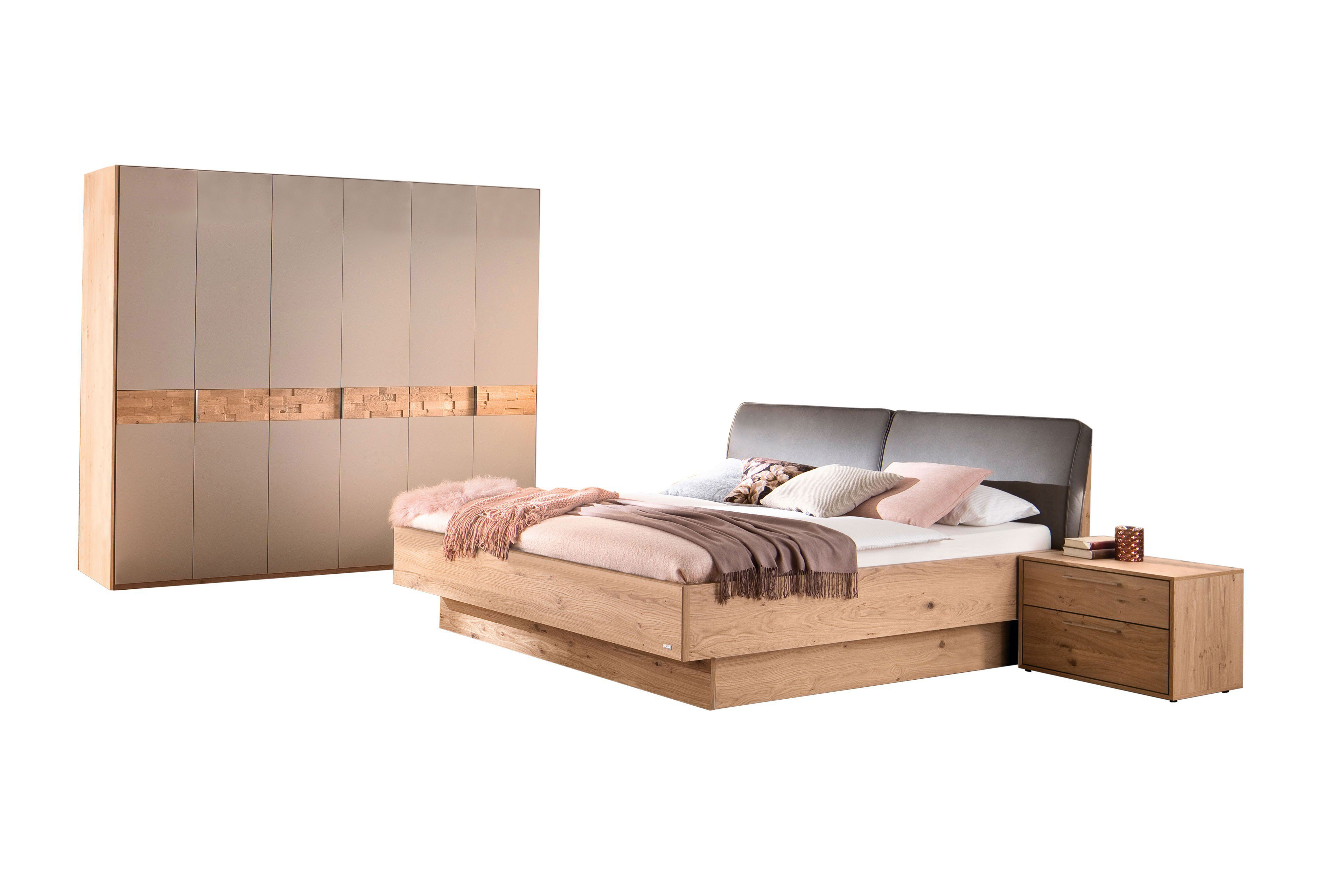 Casada Schlafzimmer Capena Balkeneiche Furnier Mobel Letz Ihr Online Shop