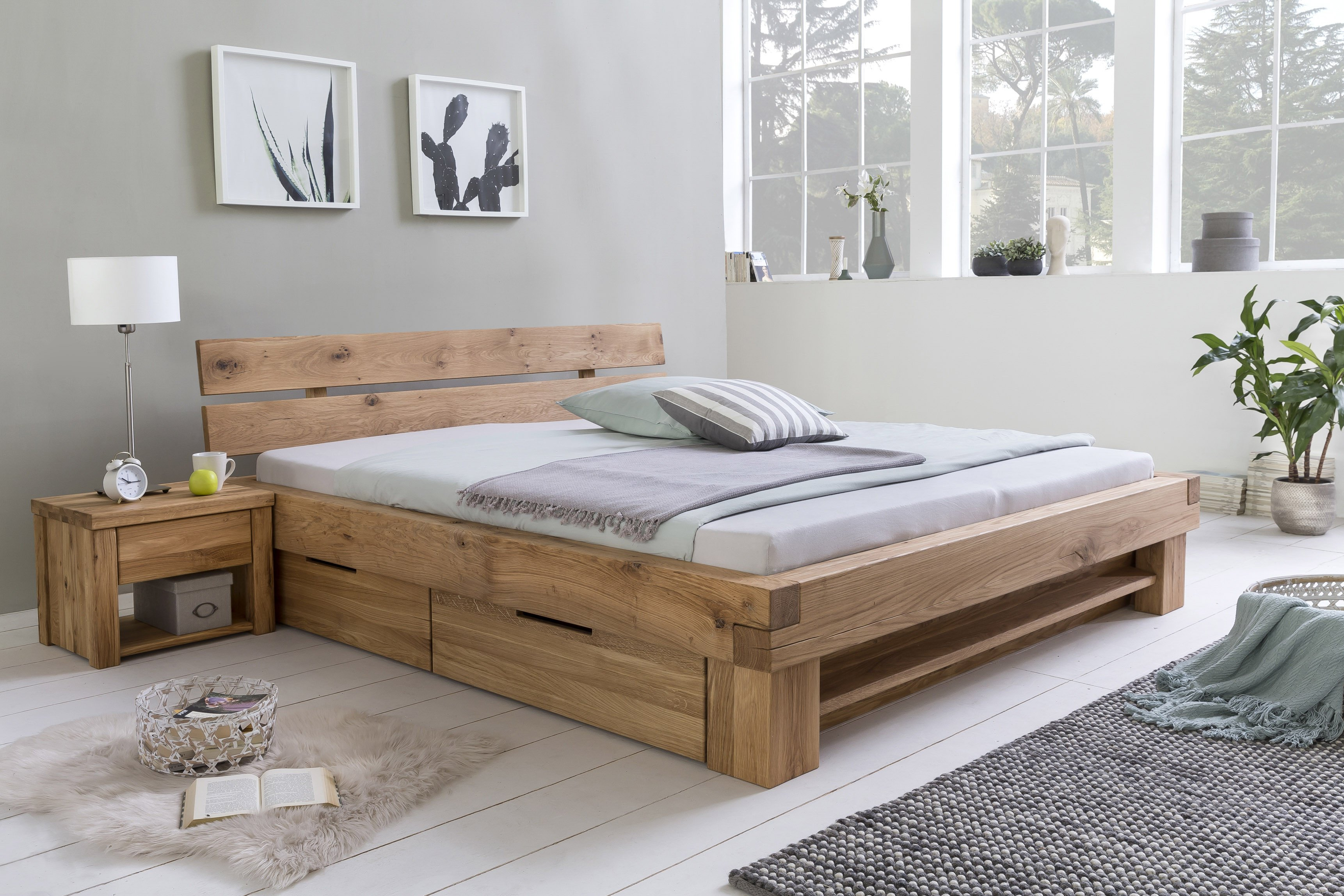 woodlive timber massivholzbett wildeiche massiv m bel letz ihr online shop. Black Bedroom Furniture Sets. Home Design Ideas