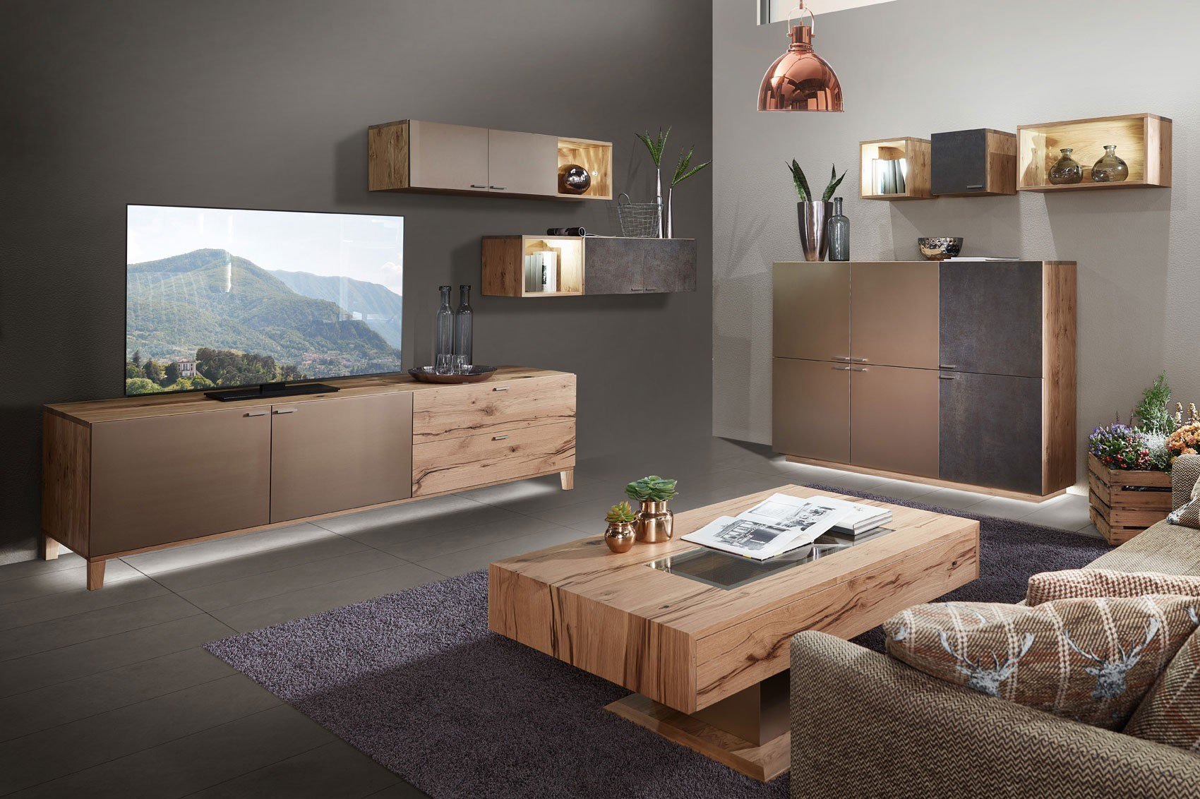 schr der m bel wohnwand kitzalm living k009 keramik lack m bel letz ihr online shop. Black Bedroom Furniture Sets. Home Design Ideas