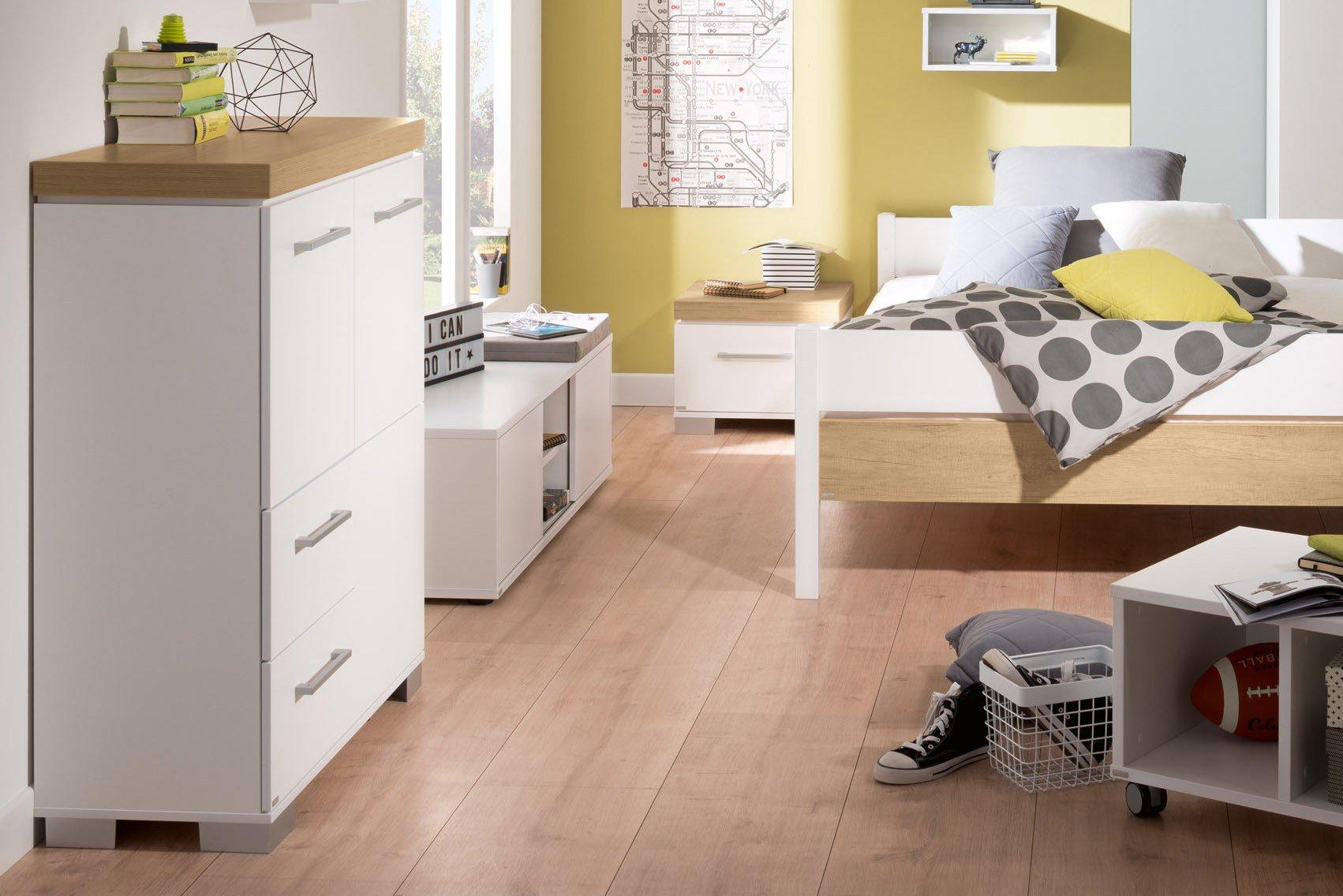 paidi highboard kira eiche nebraska kreidewei m bel letz ihr online shop. Black Bedroom Furniture Sets. Home Design Ideas