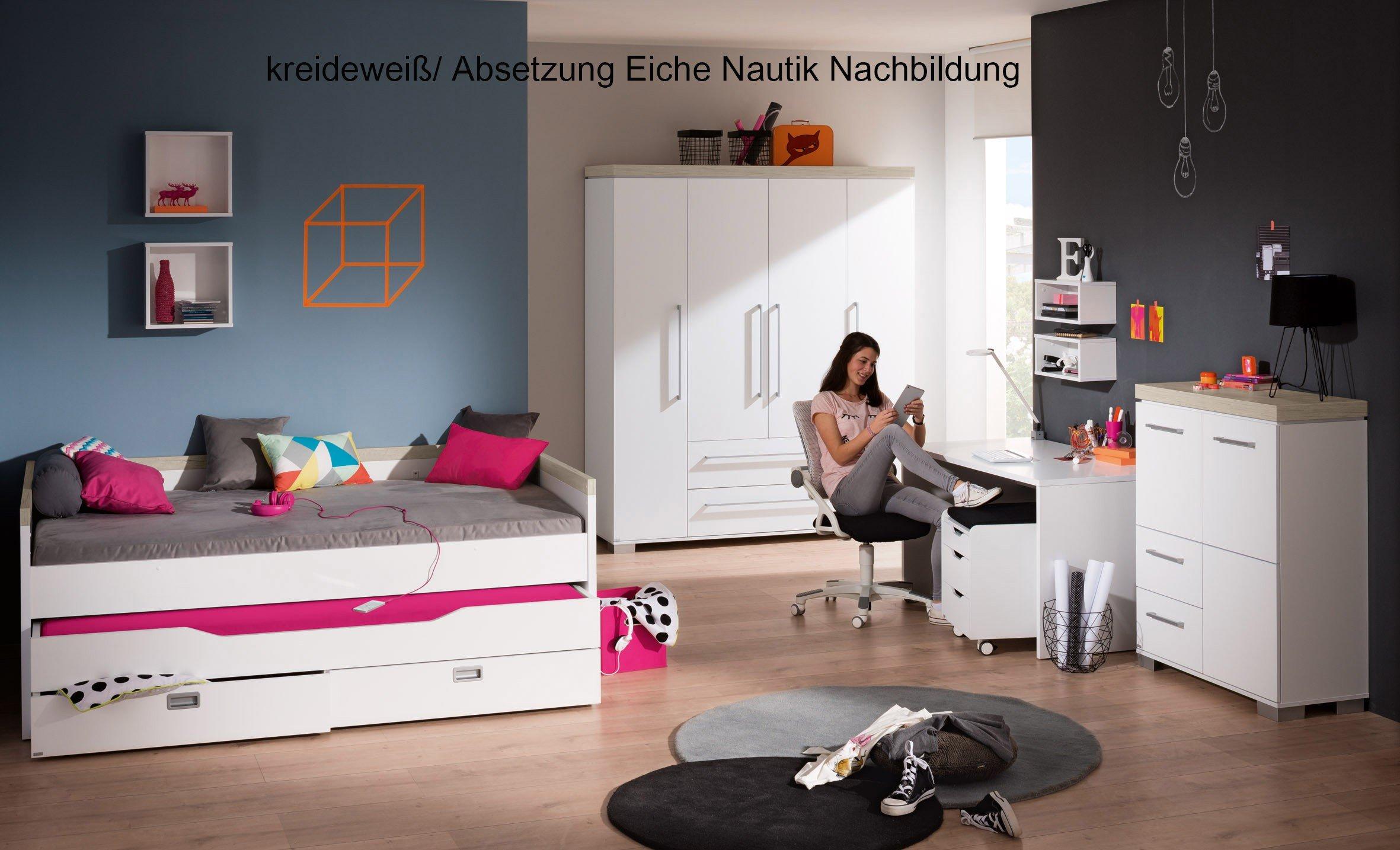 Paidi Jugendzimmer Kira kreideweiß - Eiche Nebraska | Möbel Letz ...