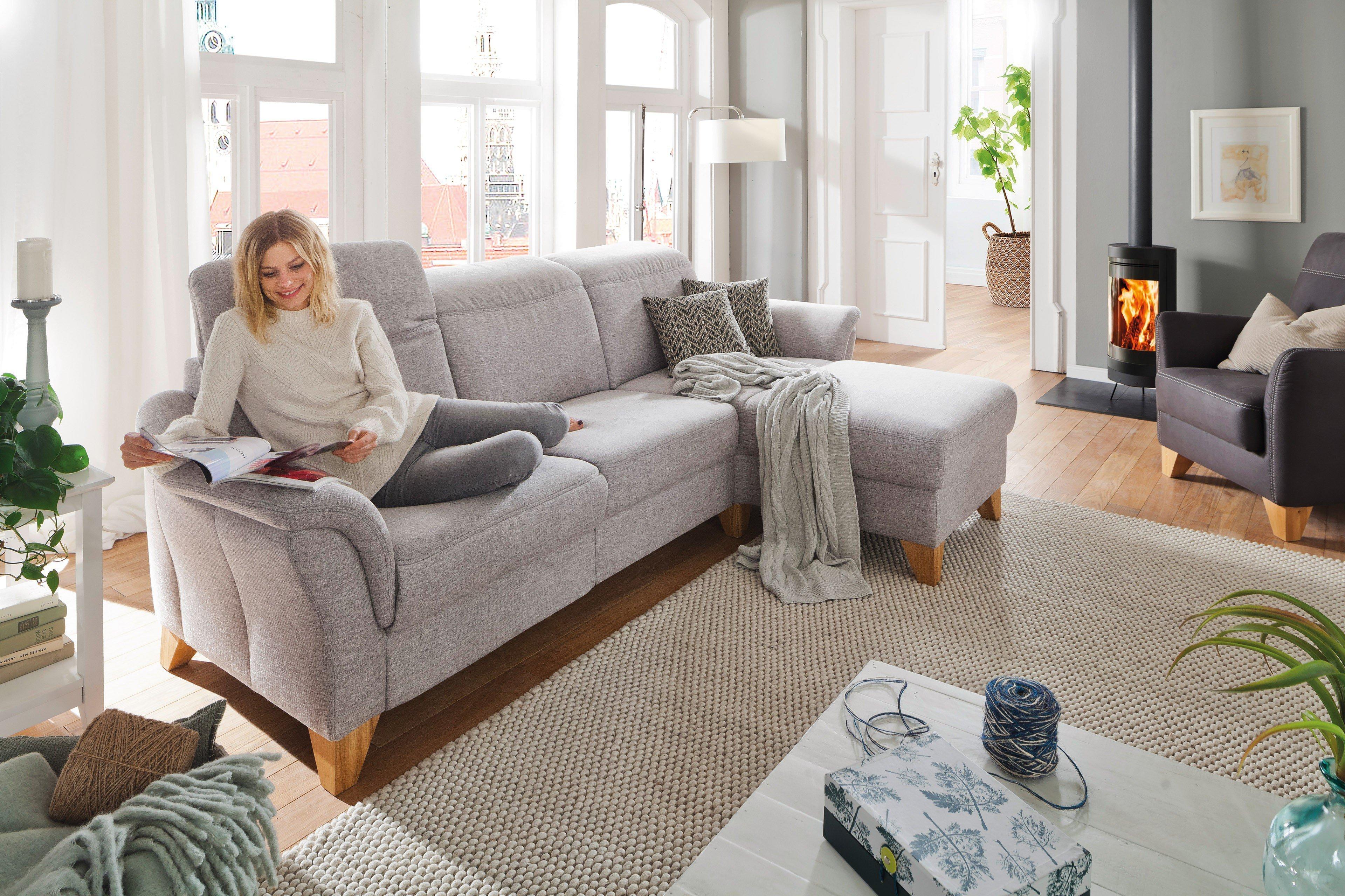 Casada Calisto Ecksofa silber   Möbel Letz - Ihr Online-Shop