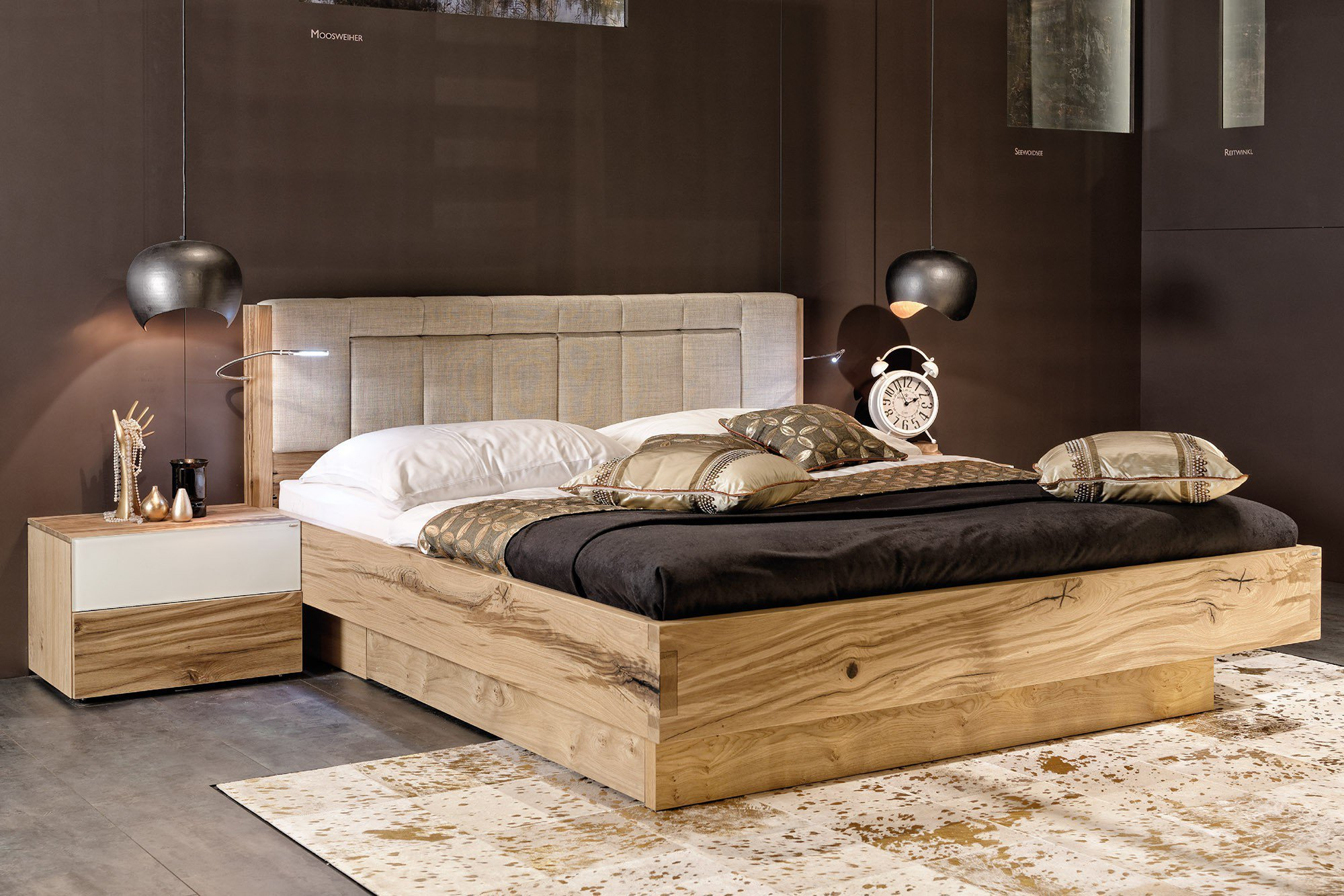 voglauer v pur bett eiche altholz polster m bel letz ihr online shop. Black Bedroom Furniture Sets. Home Design Ideas