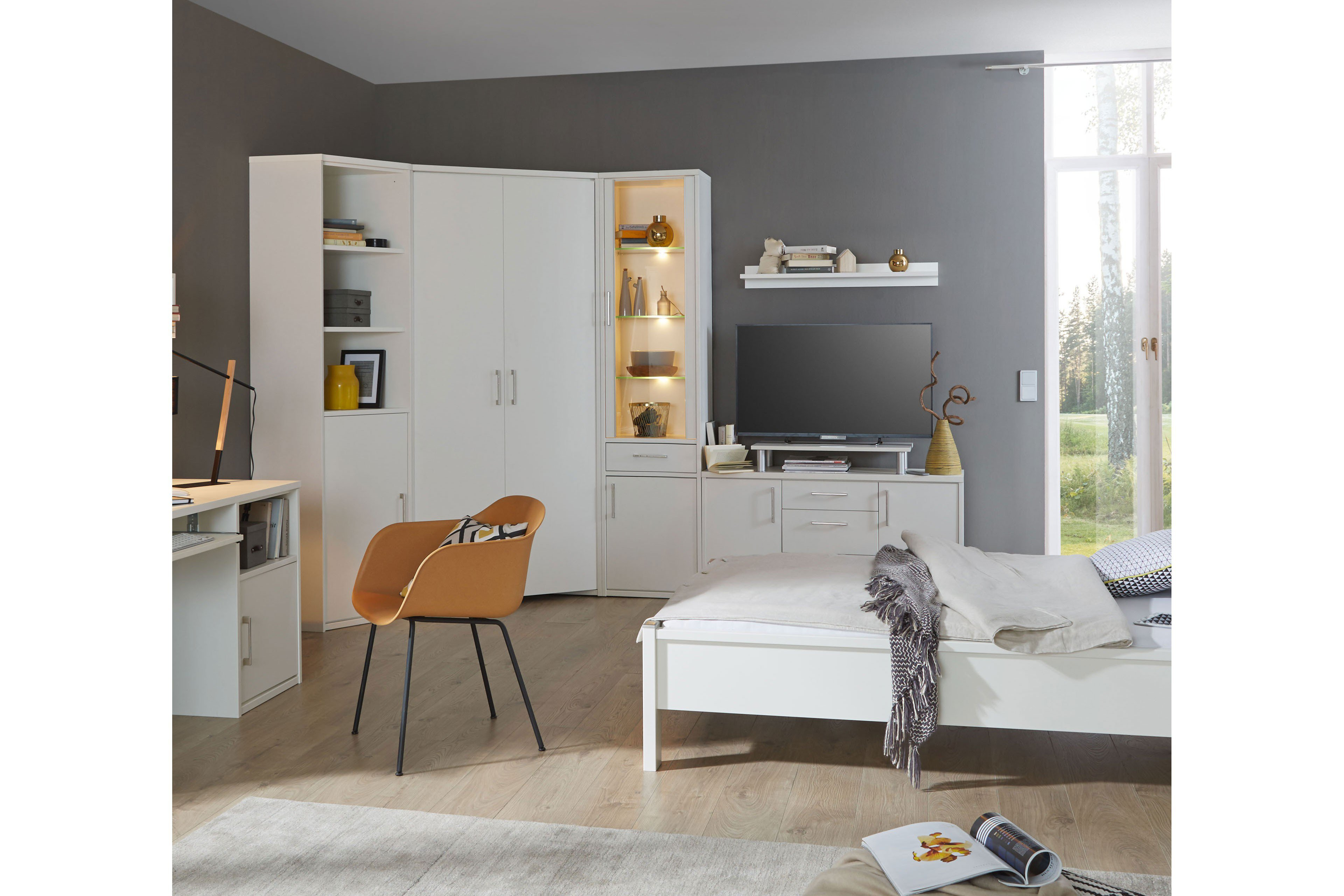 Priess Kleiderschrank Achat lichtweiß| Möbel Letz - Ihr Online-Shop