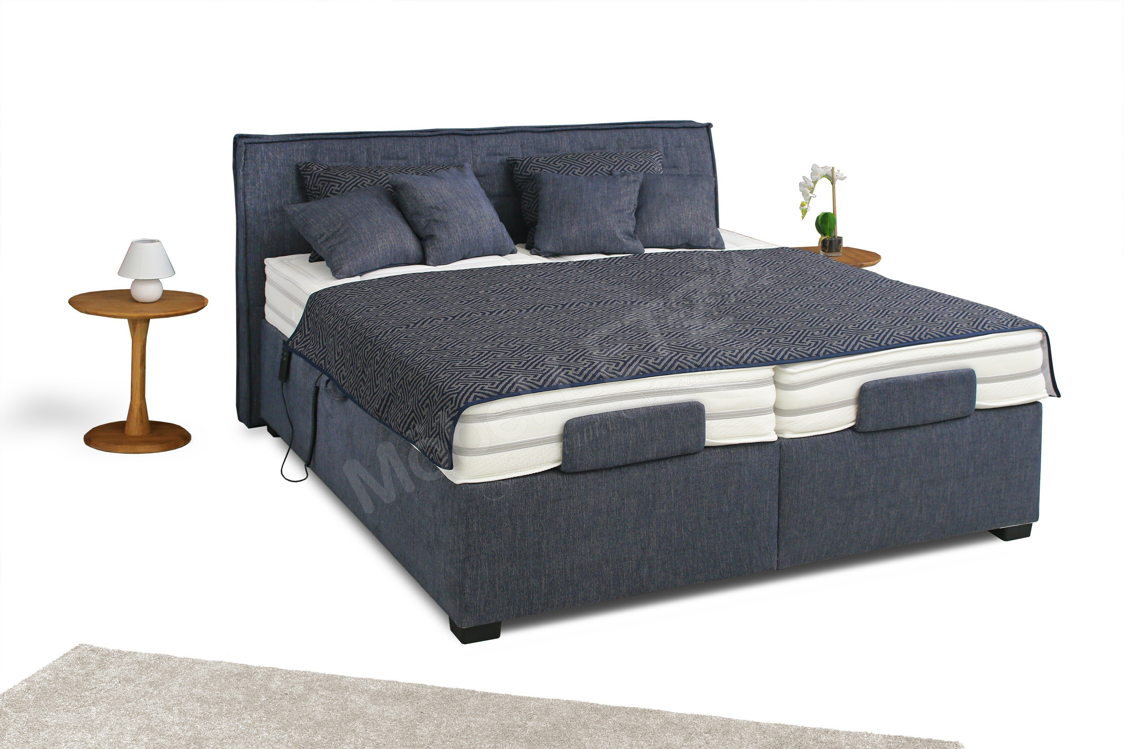 boxspringbett belcanto enja motor von oschmann in atlantic blau m bel letz ihr online shop. Black Bedroom Furniture Sets. Home Design Ideas
