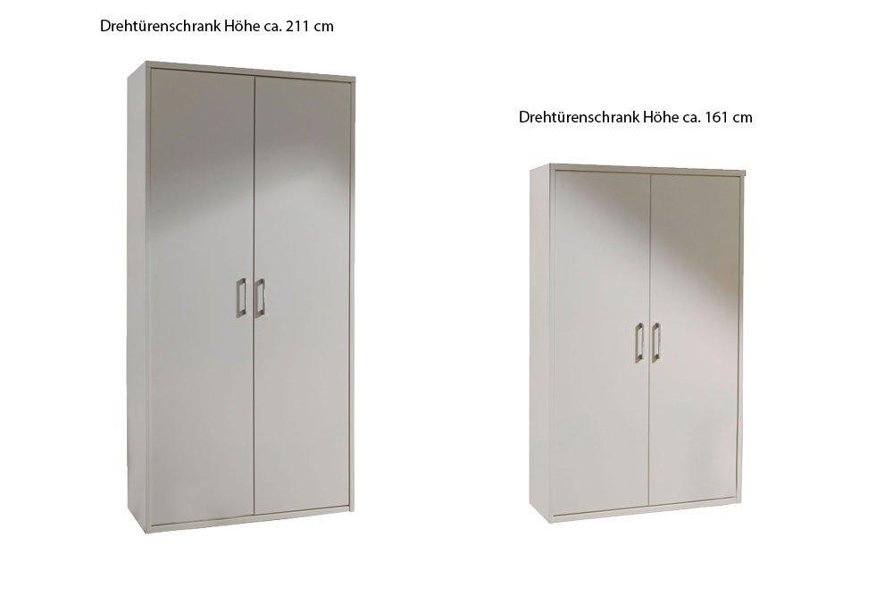 Priess Kleiderschrank Achat in Weiß Höhe ca. 161 cm   Möbel Letz ...