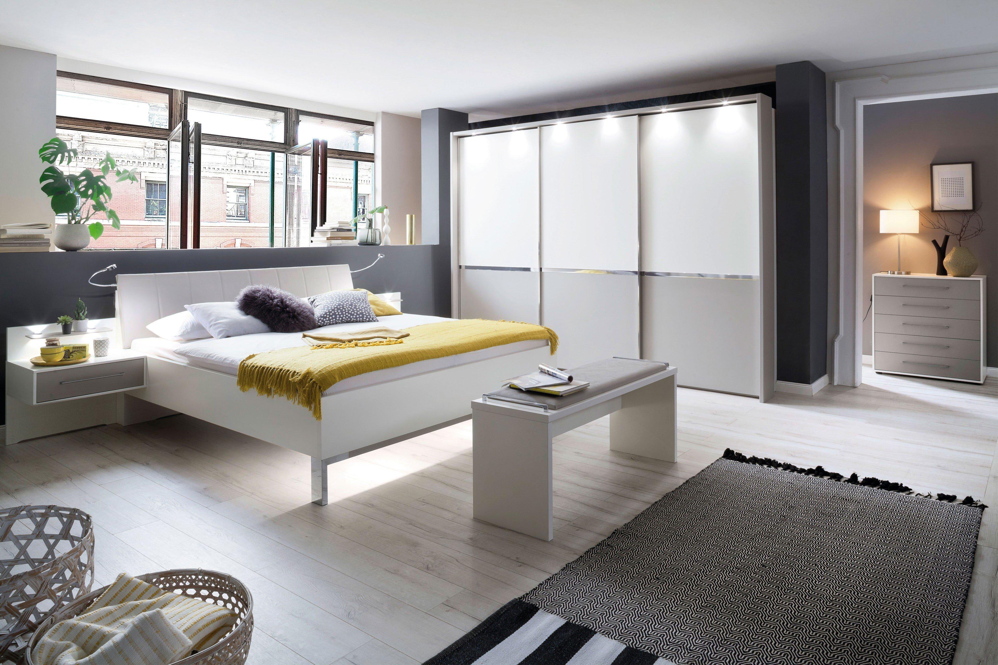 Wiemann Schlafzimmer-Set Alaska weiß - kieselgrau | Möbel Letz - Ihr ...