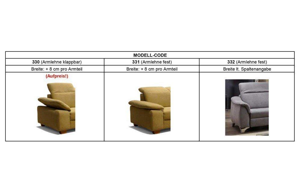 EMP ComfySofa 332 Polstergarnitur grau   Möbel Letz - Ihr Online-Shop
