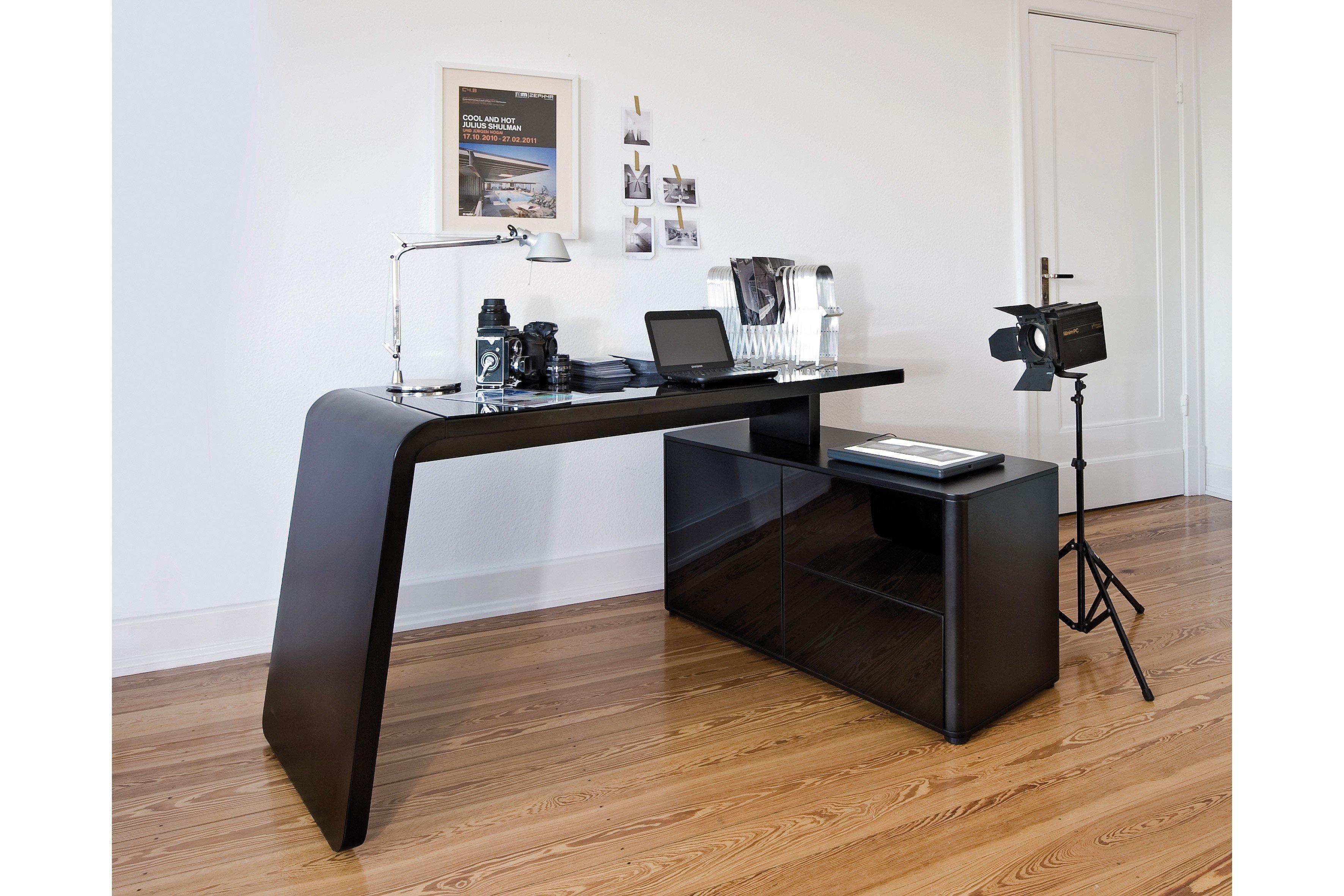 jahnke schreibtisch csl465e schwarz m bel letz ihr online shop. Black Bedroom Furniture Sets. Home Design Ideas