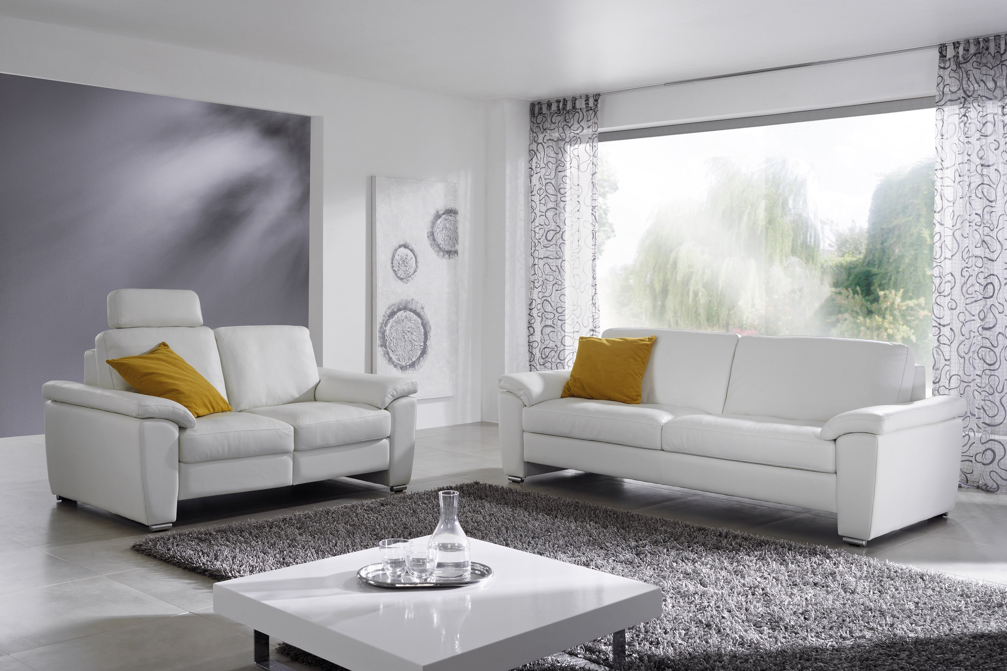 Dietsch Donna Ledergarnitur in Weiß | Möbel Letz - Ihr Online-Shop