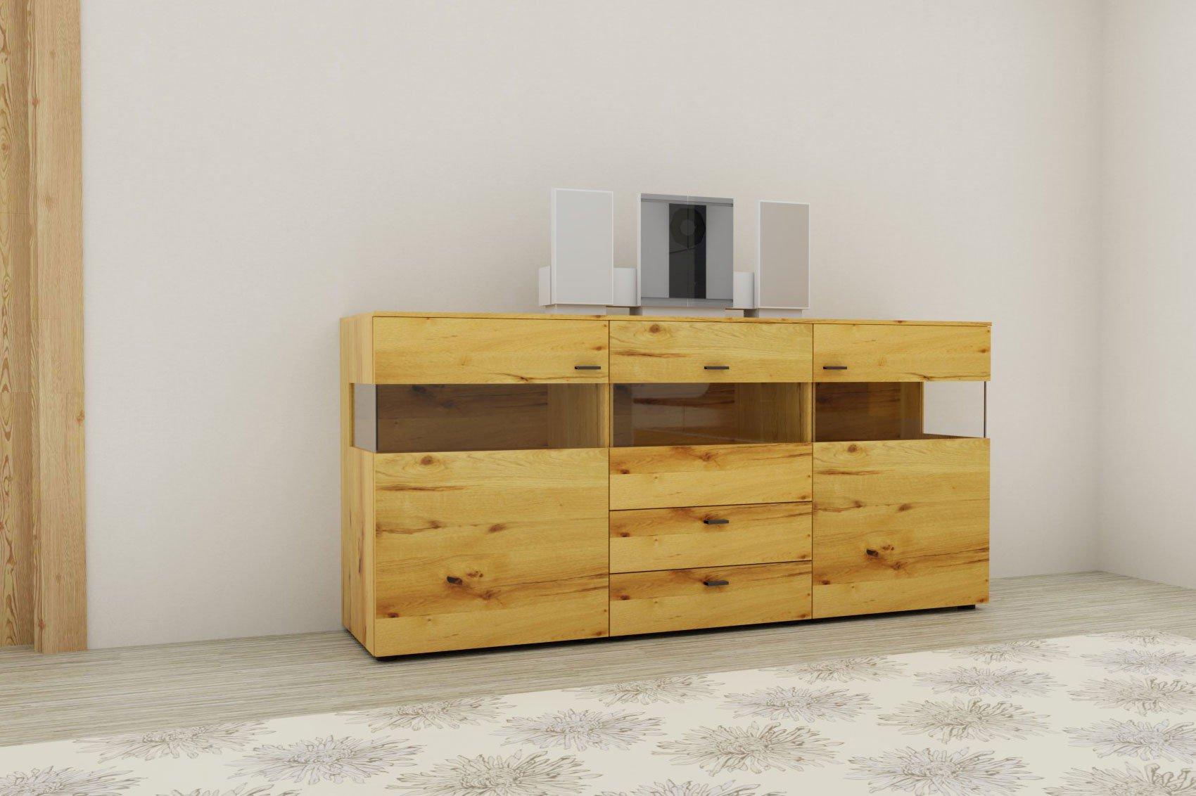 gwinner sideboard treviso to242 mit beleuchtung m bel letz ihr online shop. Black Bedroom Furniture Sets. Home Design Ideas
