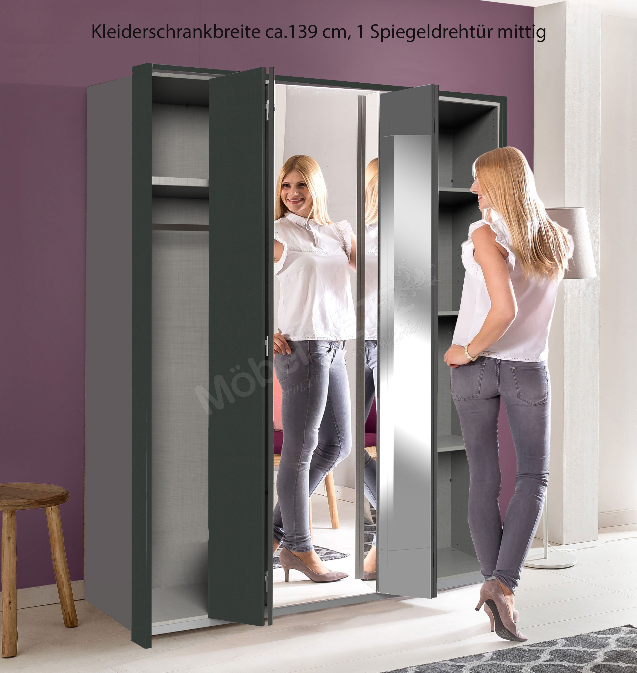 wimex kleiderschrank berlin mit spiegeldreht ren m bel letz ihr online shop. Black Bedroom Furniture Sets. Home Design Ideas