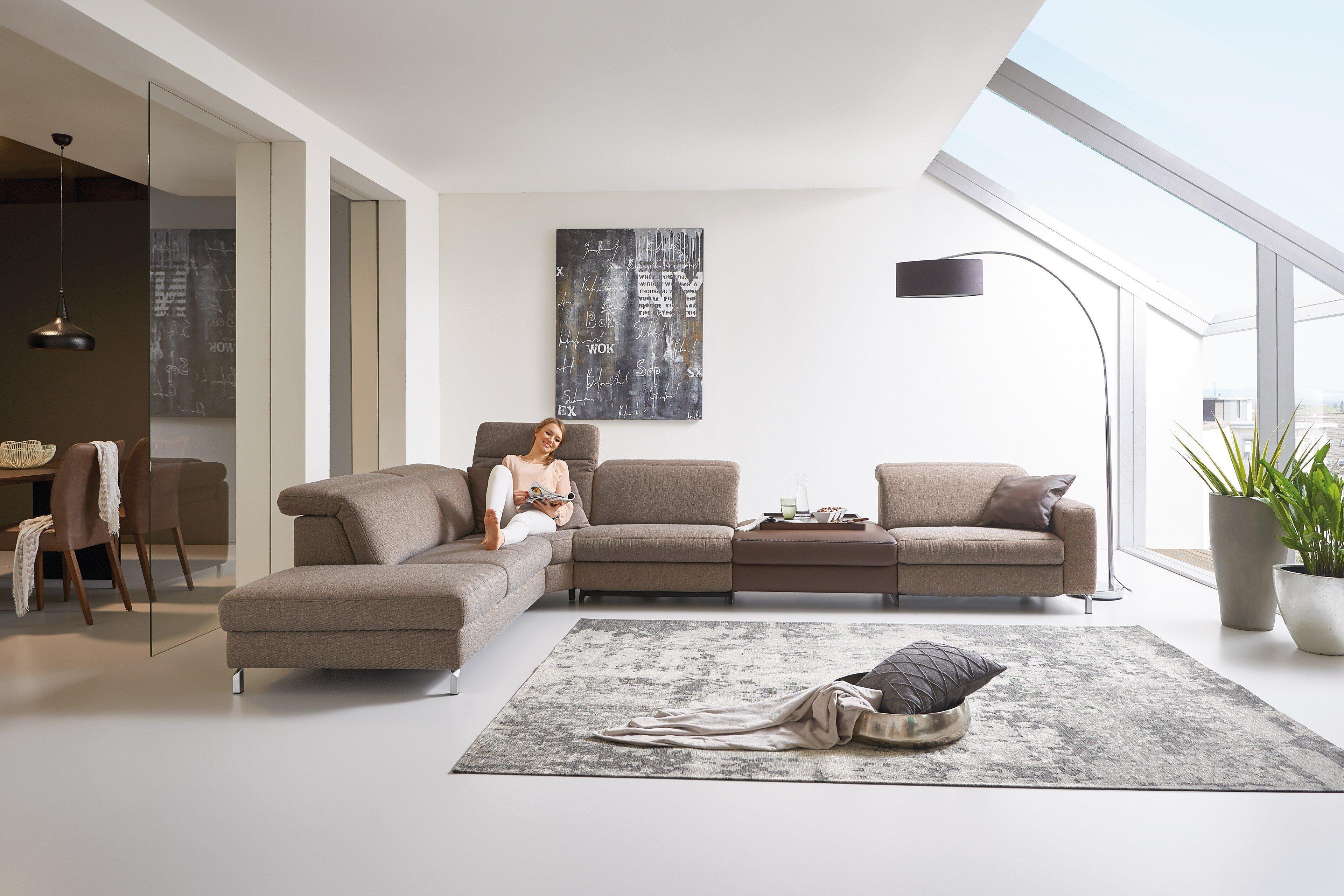 Hukla Springfield Couchgarnitur in Braun | Möbel Letz - Ihr Online-Shop
