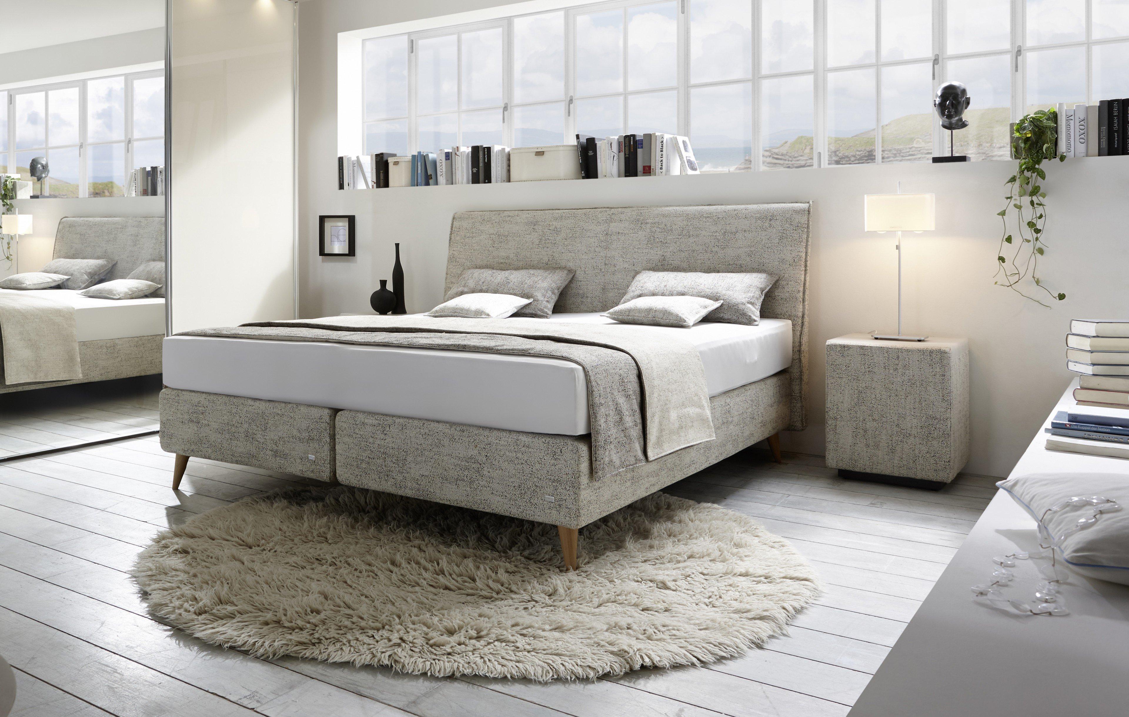 ruf amado boxspringbett in beige mit geradem kopfteil m bel letz ihr online shop. Black Bedroom Furniture Sets. Home Design Ideas