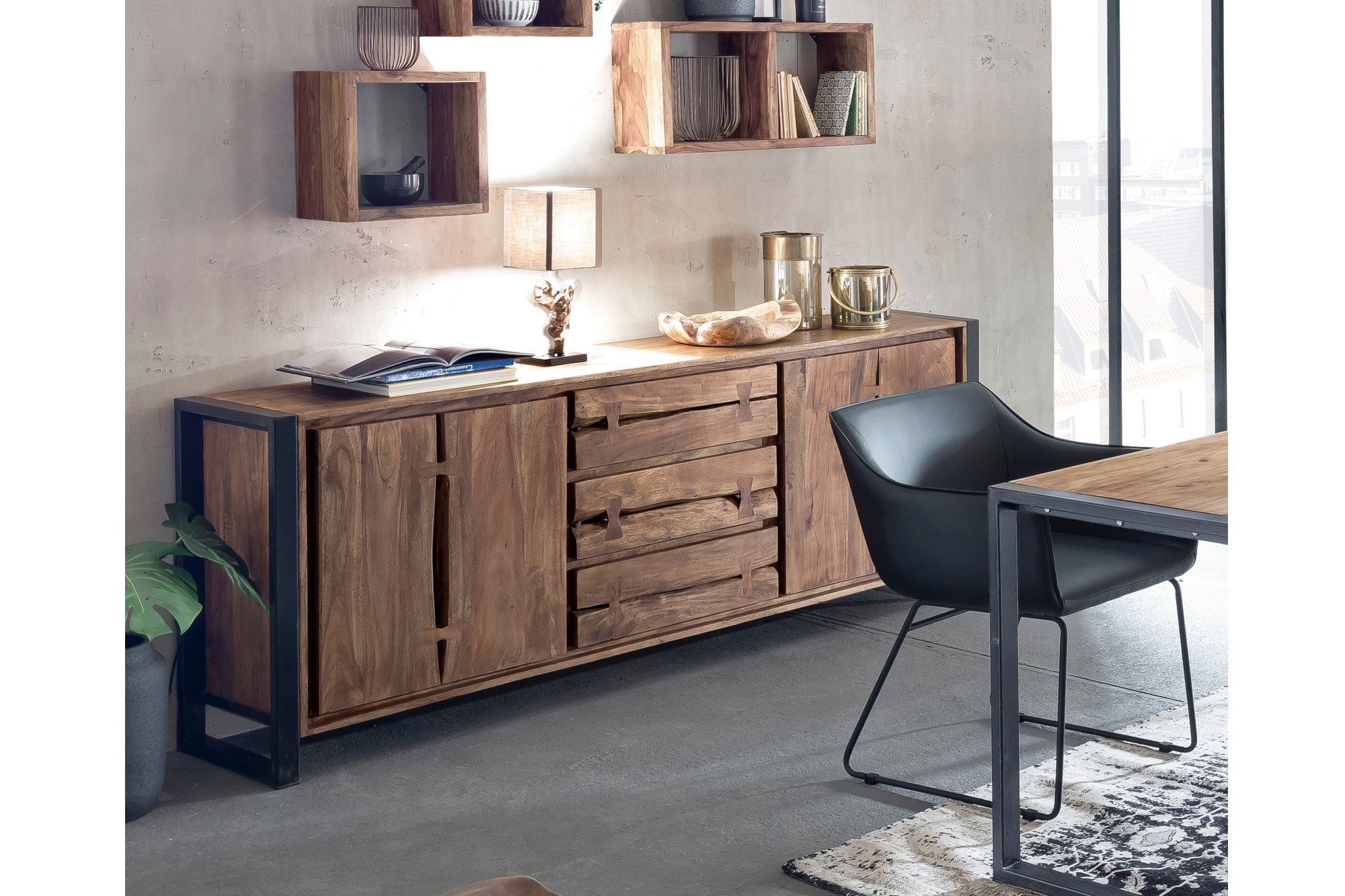 sit m bel sideboard live edge akazienholz m bel letz ihr online shop. Black Bedroom Furniture Sets. Home Design Ideas