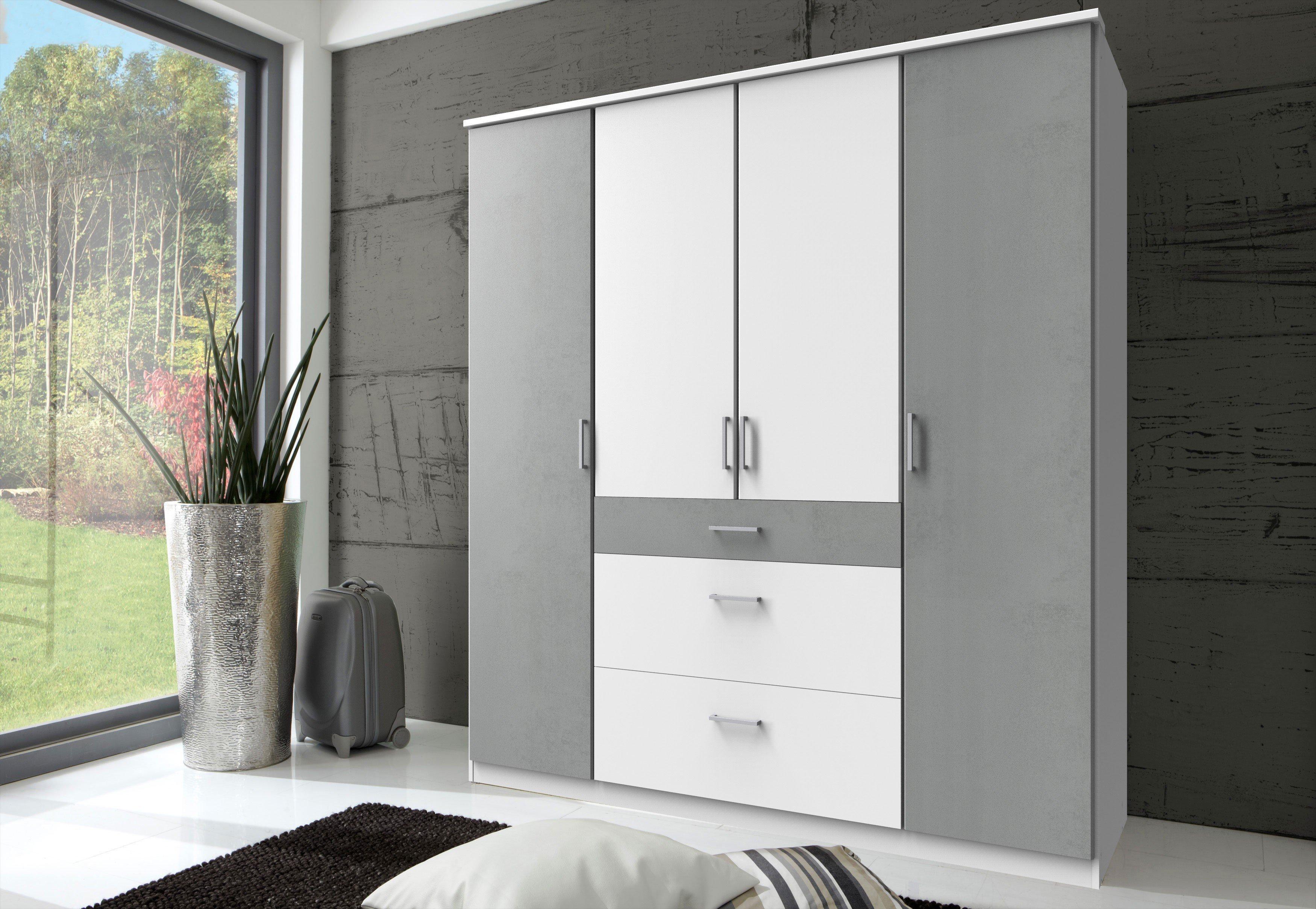 Click Von Wimex   Kleiderschrank Weiß/ Lichtgrau