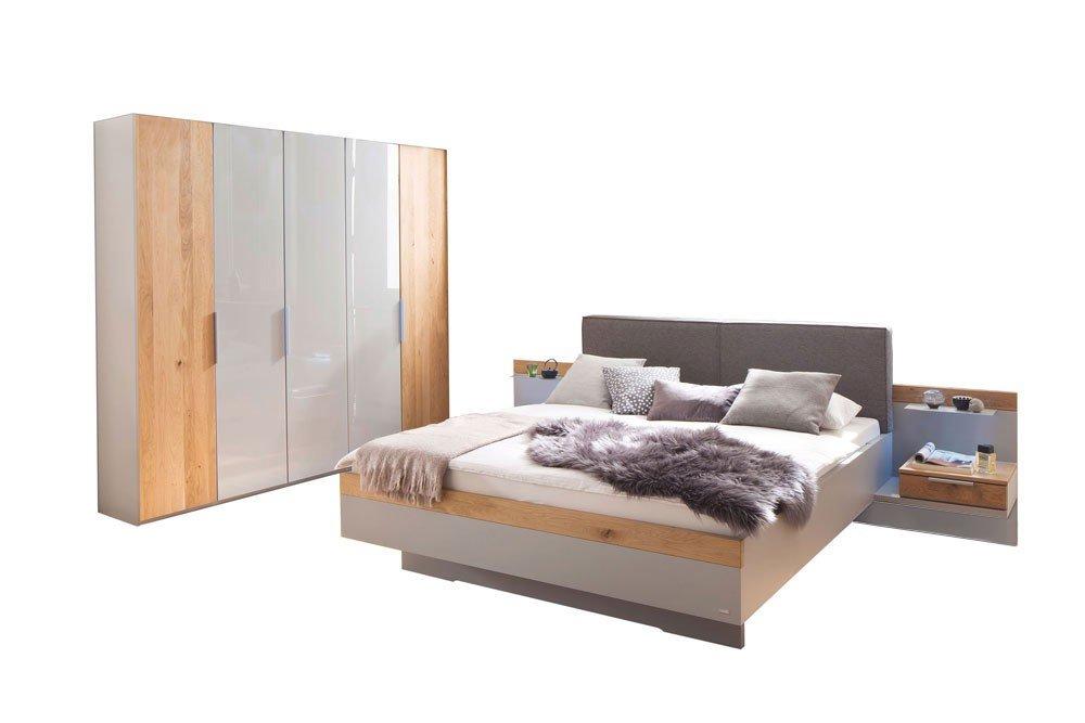 Casada Schlafzimmer Calgary grau - Eiche teilmassiv | Möbel Letz ...