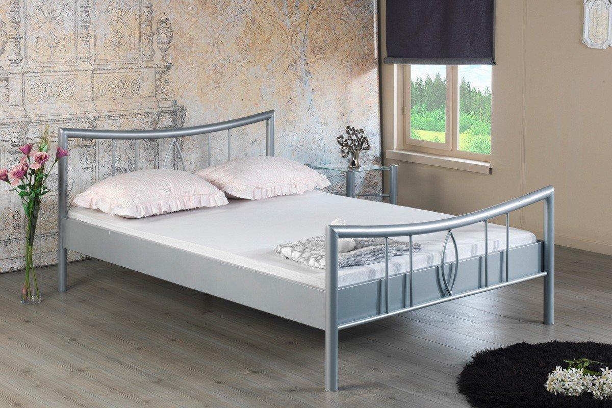 BED BOX Luisa 1002 Metall Einzelbett silberfarbig | Möbel Letz - Ihr ...