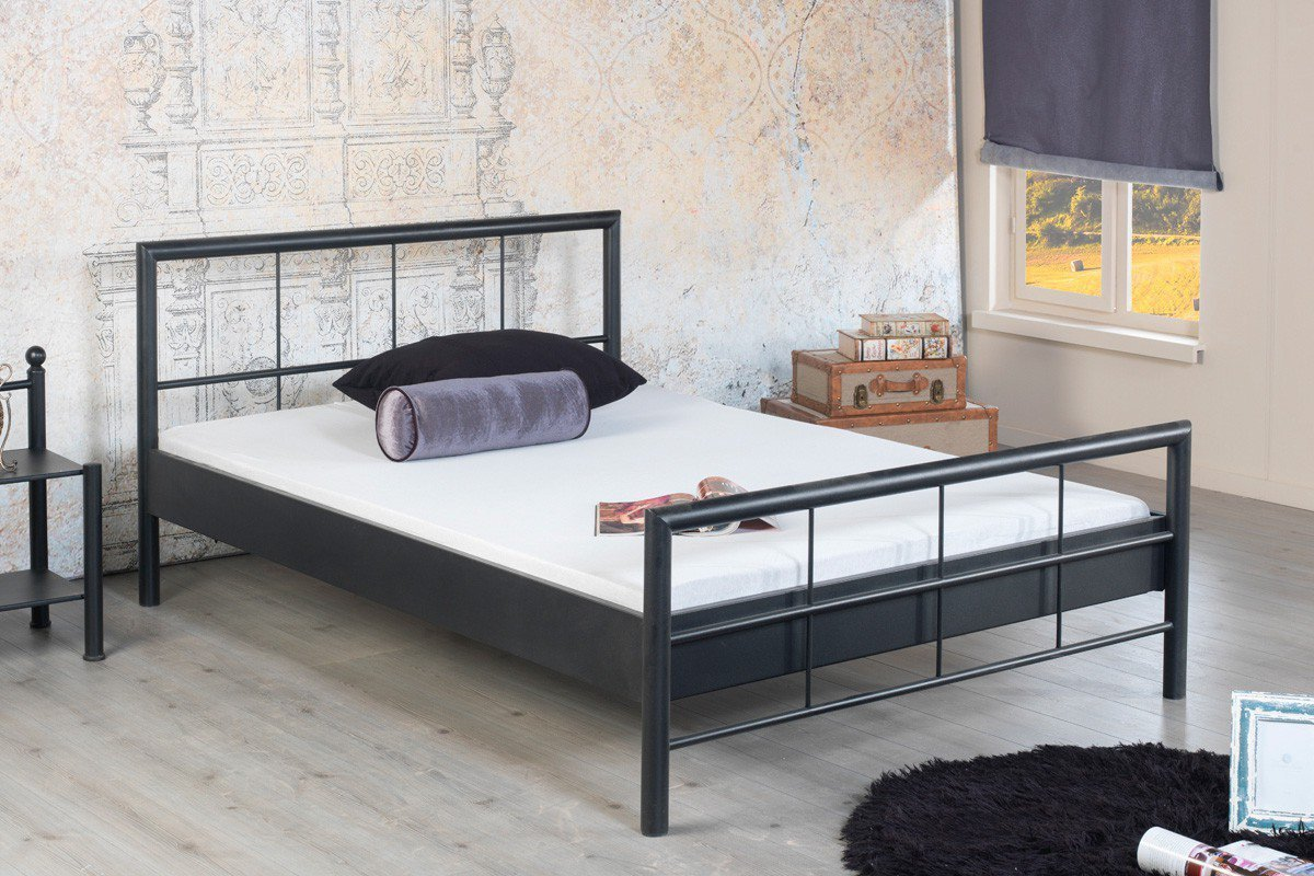 bed box ruby 1008 einzel metallbett schwarz m bel letz ihr online shop. Black Bedroom Furniture Sets. Home Design Ideas