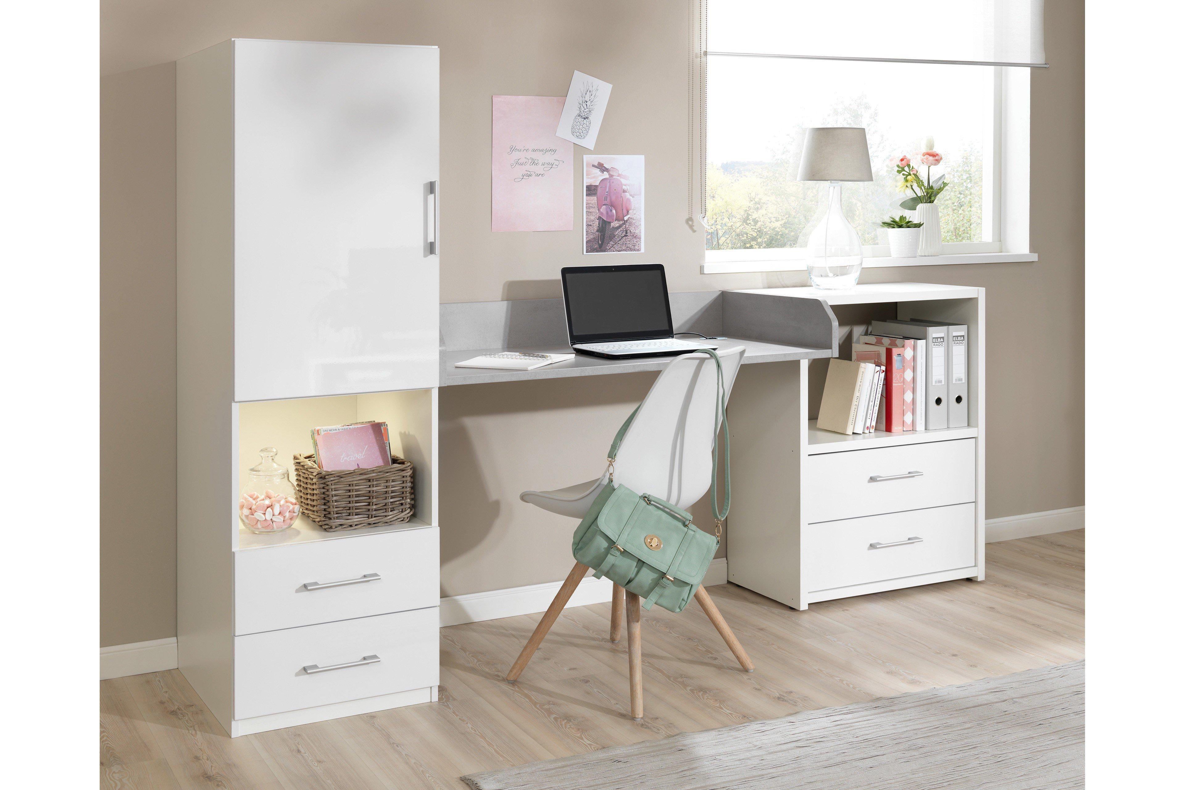 welle new concept chill schreibtisch wei beton m bel letz ihr online shop. Black Bedroom Furniture Sets. Home Design Ideas