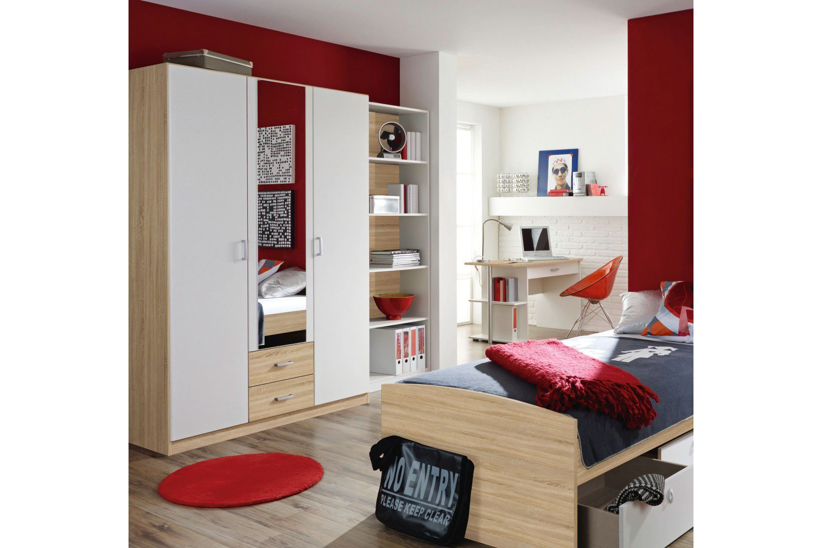 rauch point schrank 3 t rig eiche wei m bel letz ihr online shop. Black Bedroom Furniture Sets. Home Design Ideas
