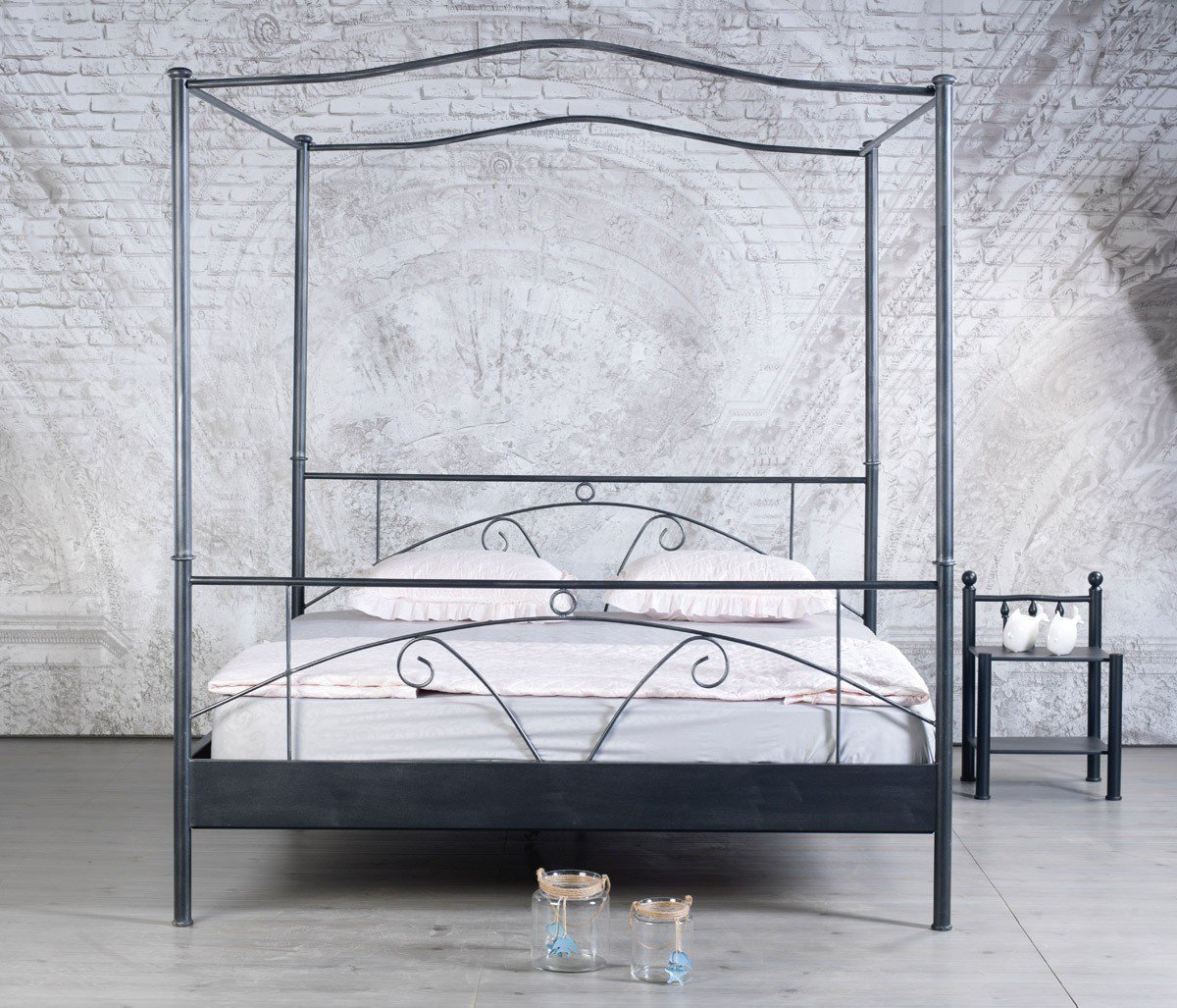 bed box laura 1026 doppel himmelbett metall m bel letz ihr online shop. Black Bedroom Furniture Sets. Home Design Ideas