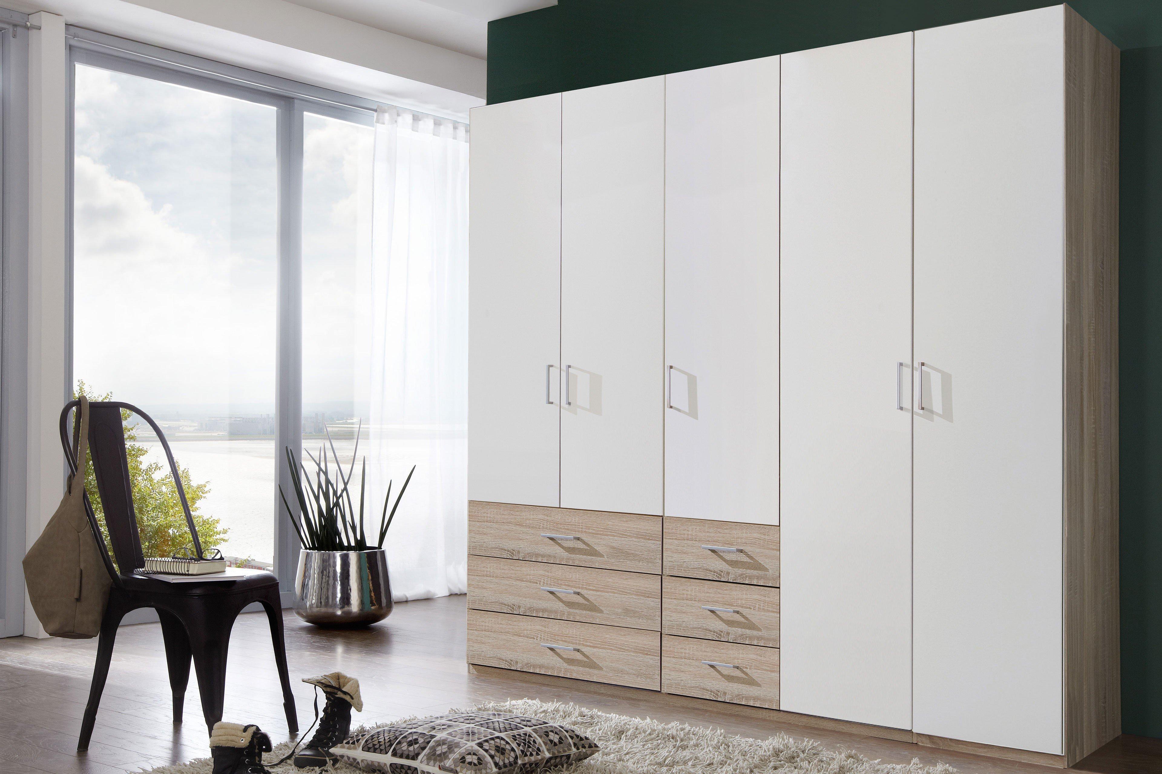 Furniture Reliable Wimex Drehtürenschrank Click Eiche Sägerau 3 Breiten Spiegel Schubkästen