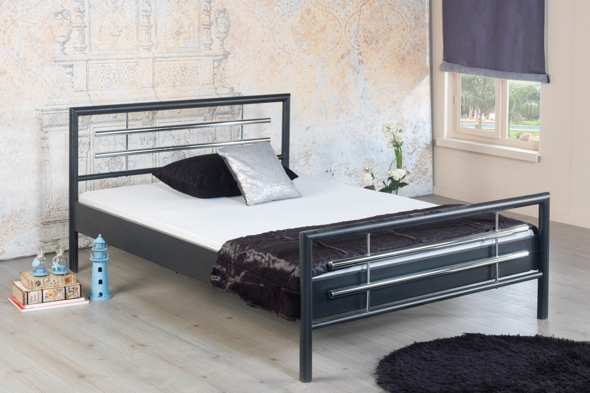 Uberlegen Holly 1030 Von BED BOX   Bett In Dunkelgrau Metall