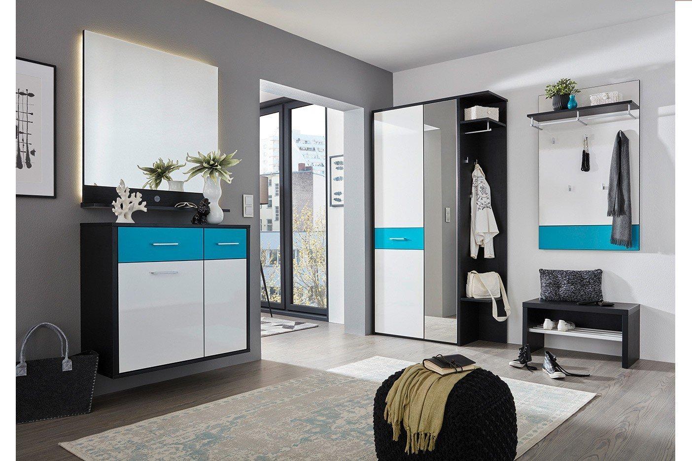 Garderobe Kiel Plus in Struktur schwarz & Petrol von Prenneis ...