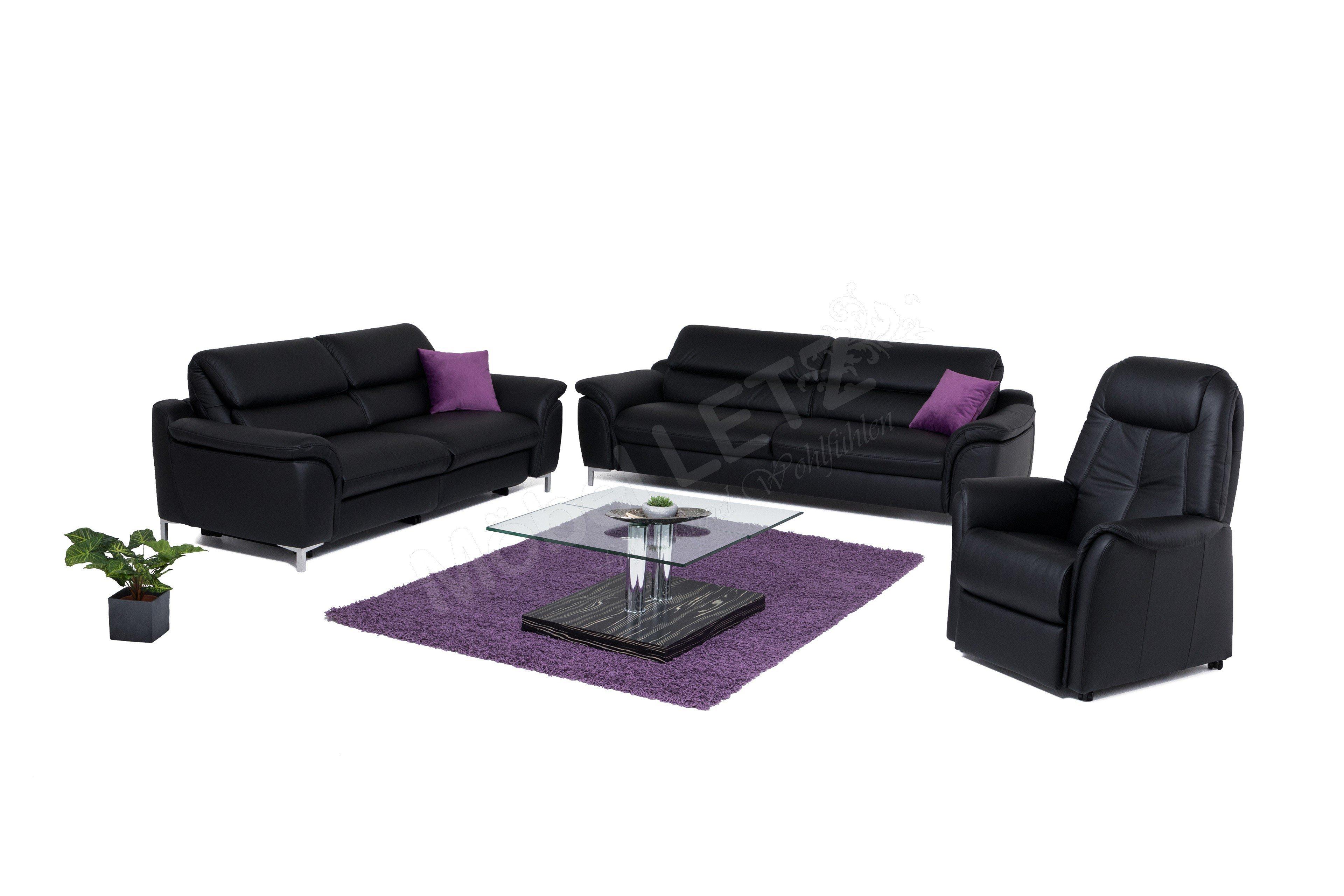Hukla Rl1656 3 2 Garnitur In Schwarz Mobel Letz Ihr Online Shop
