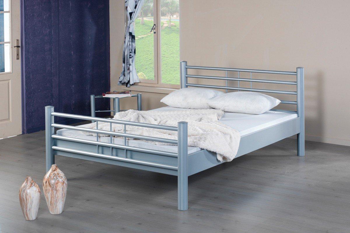 bed box mona 1012 metallbett silberfarbig m bel letz ihr online shop. Black Bedroom Furniture Sets. Home Design Ideas