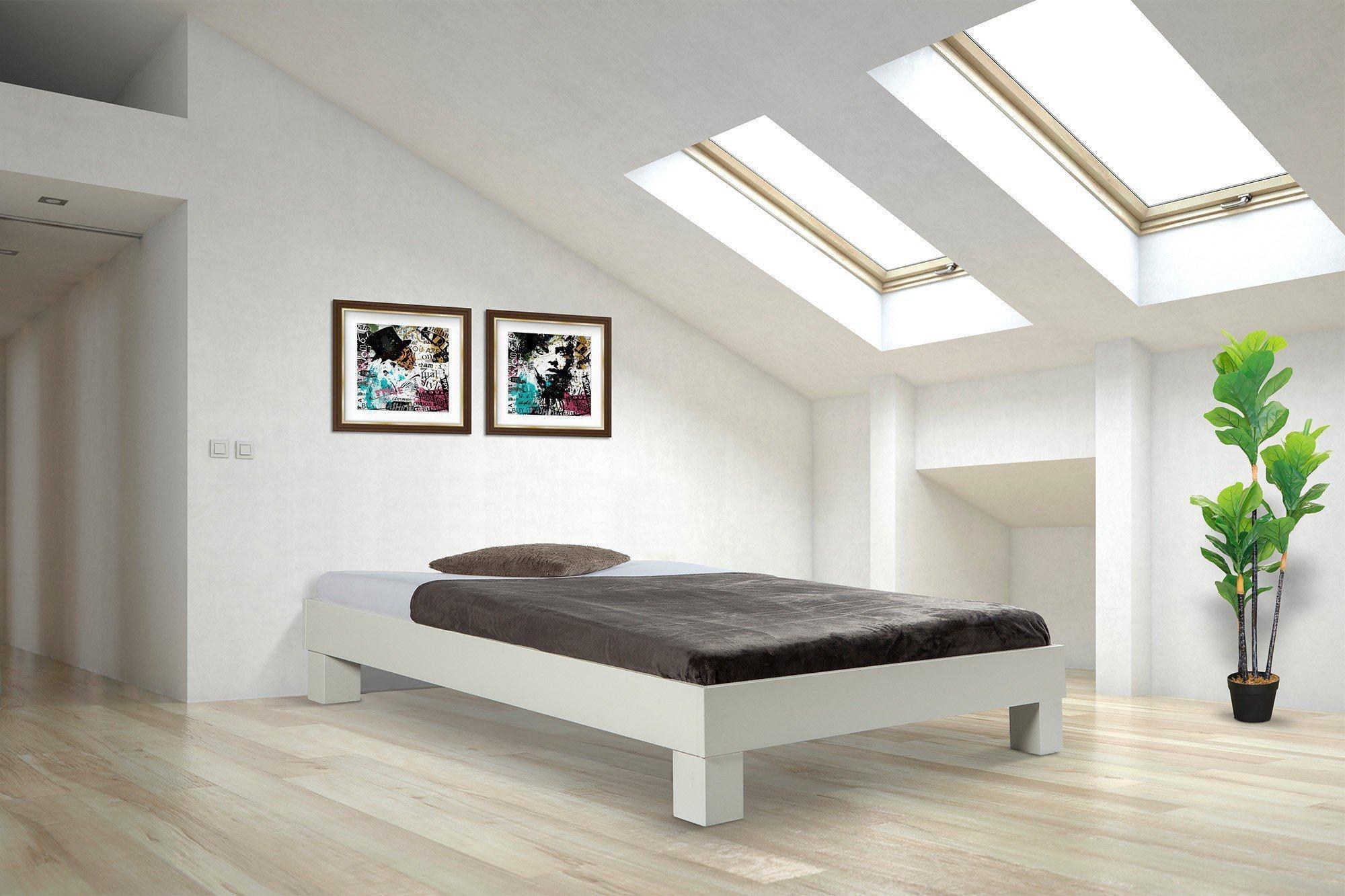 BED BOX Standard weißes Futon-Einzelbett lackiert | Möbel Letz - Ihr ...