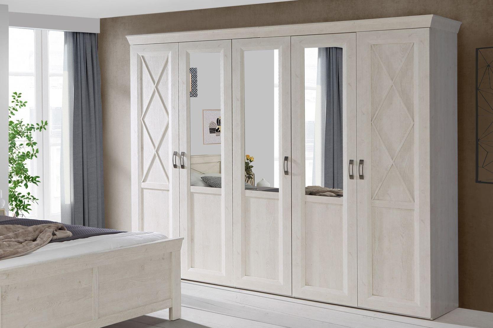 forte landhaus schrank kashmir wei kiefer m bel letz ihr online shop. Black Bedroom Furniture Sets. Home Design Ideas